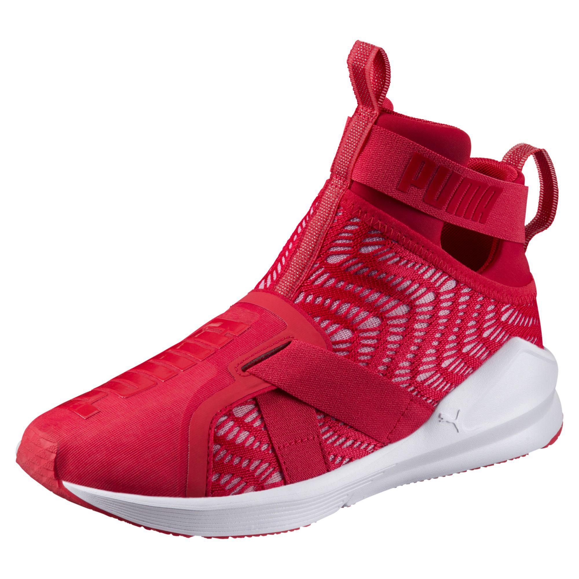 Lyst - PUMA Fierce Strap Swirl Women s Training Shoes in Red ef1ef65526