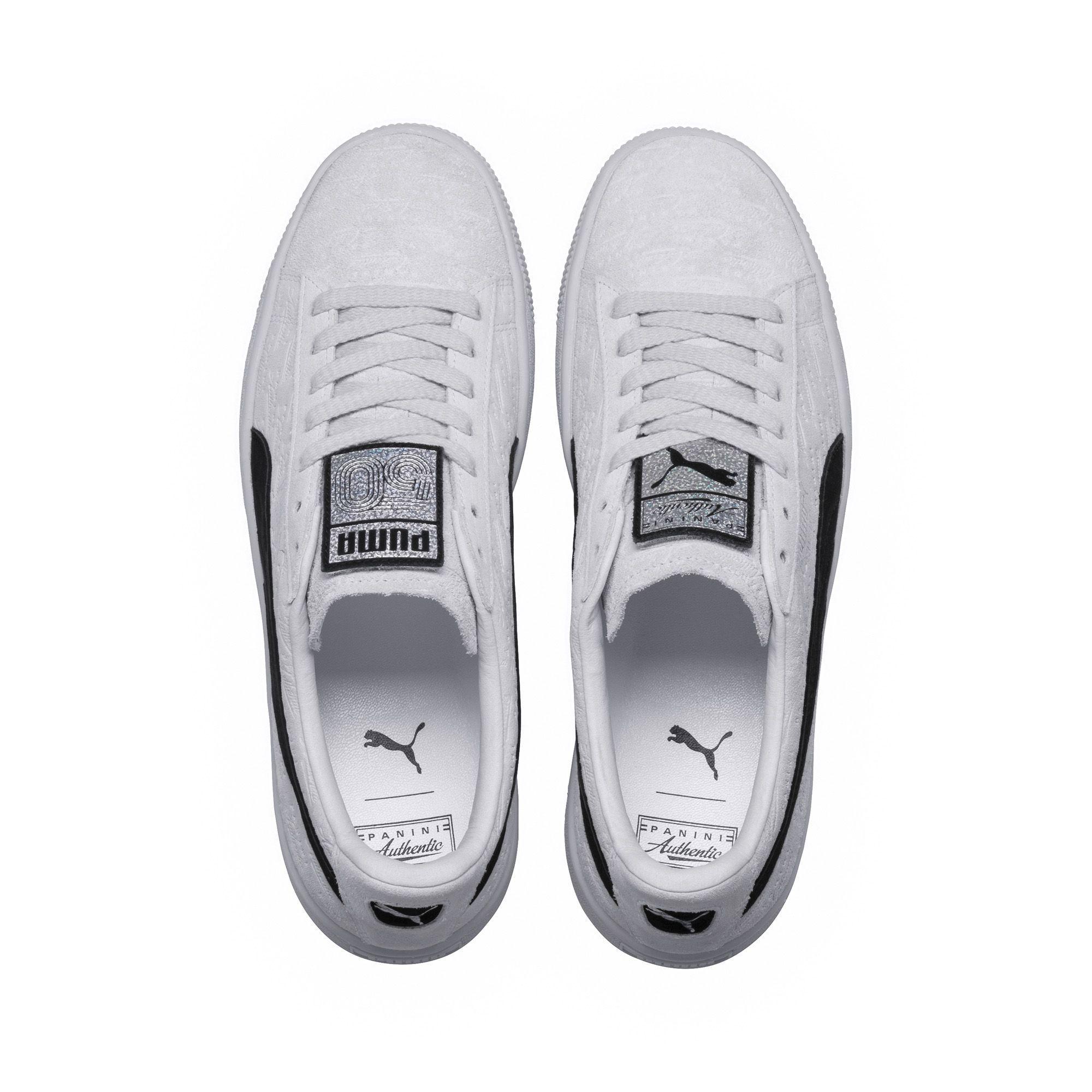 c09b59c0e88 PUMA X Panini Suede Classic Sneakers in White - Lyst