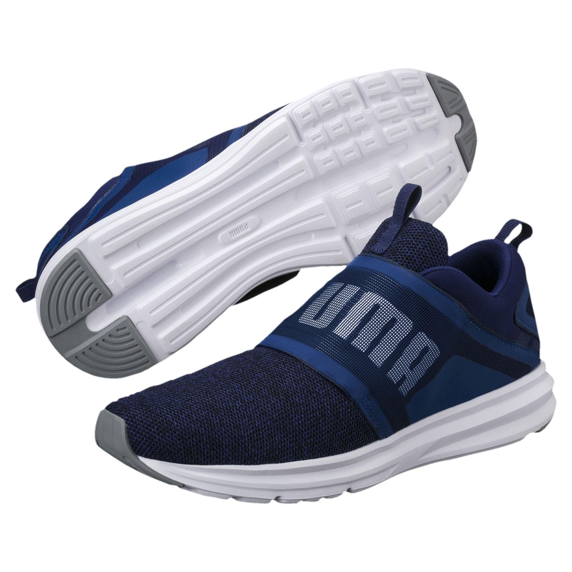 Lyst - Puma Enzo Strap Knit Men s Running Shoes in Blue for Men e6e776dfc