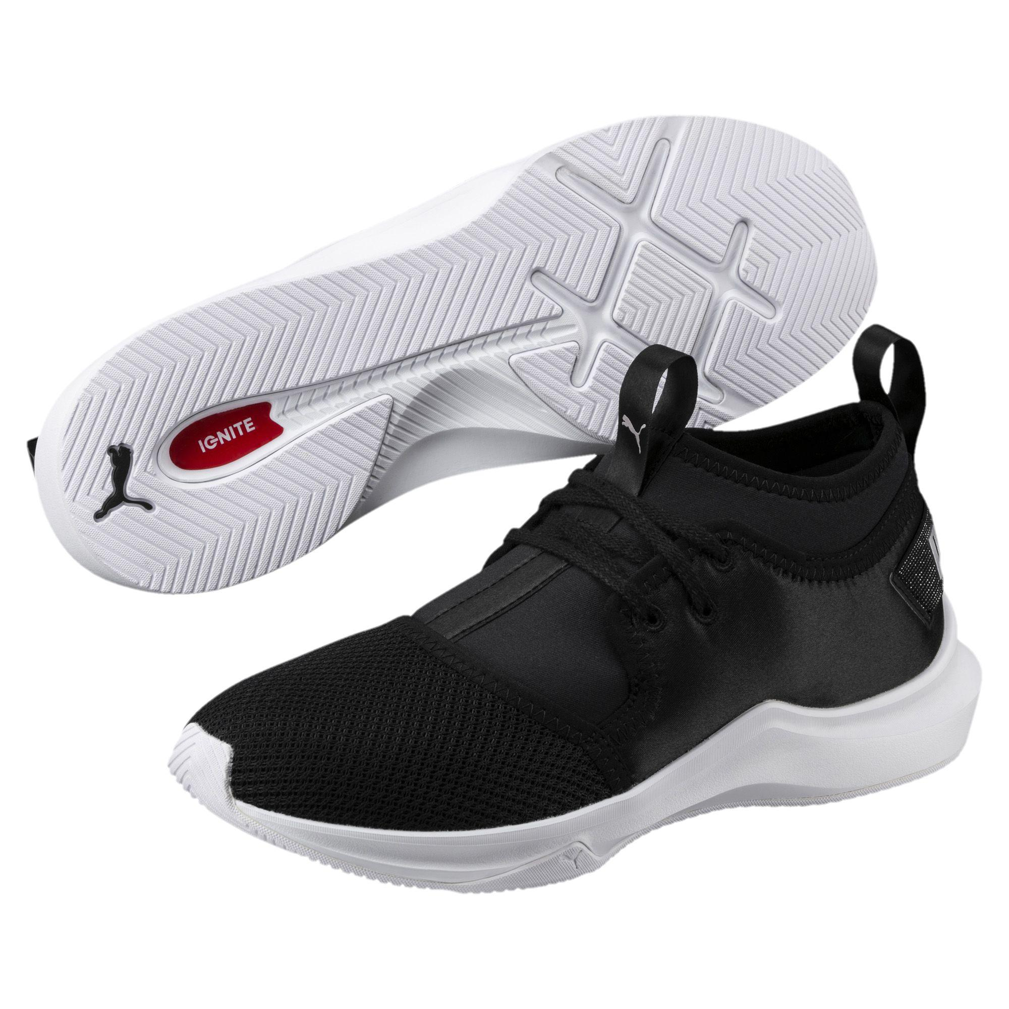 203983778ee0 Lyst - PUMA Phenom Satin Low Ep Women s Training Shoes in Black