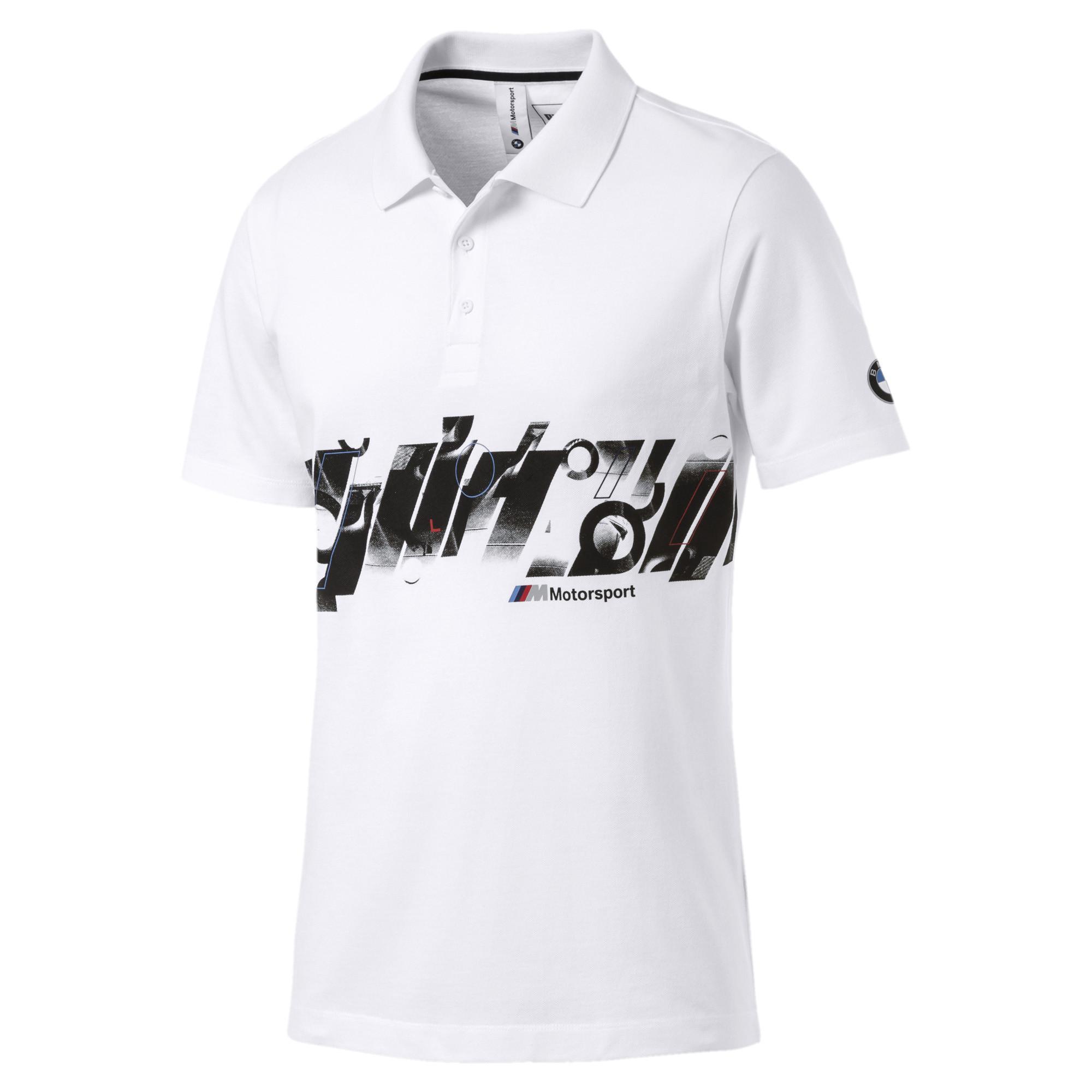 99c24df32e0 Lyst - Puma Bmw Mms Graphic Polo in White for Men