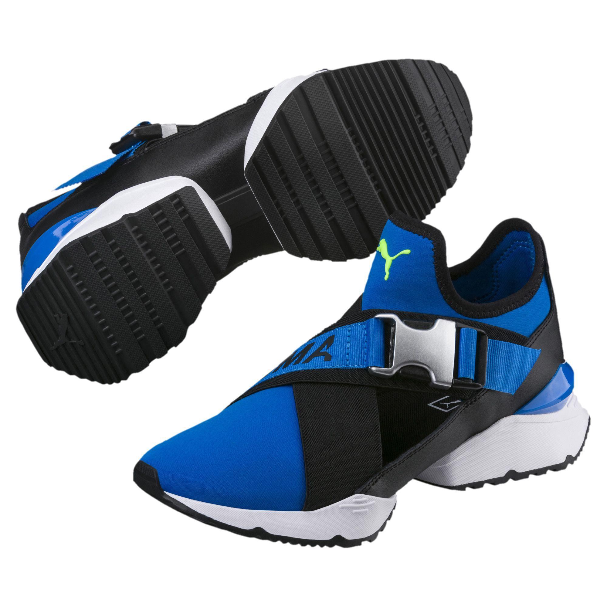 94a3675dde3 Lyst - PUMA Muse Cut-out Women s Sneakers in Blue