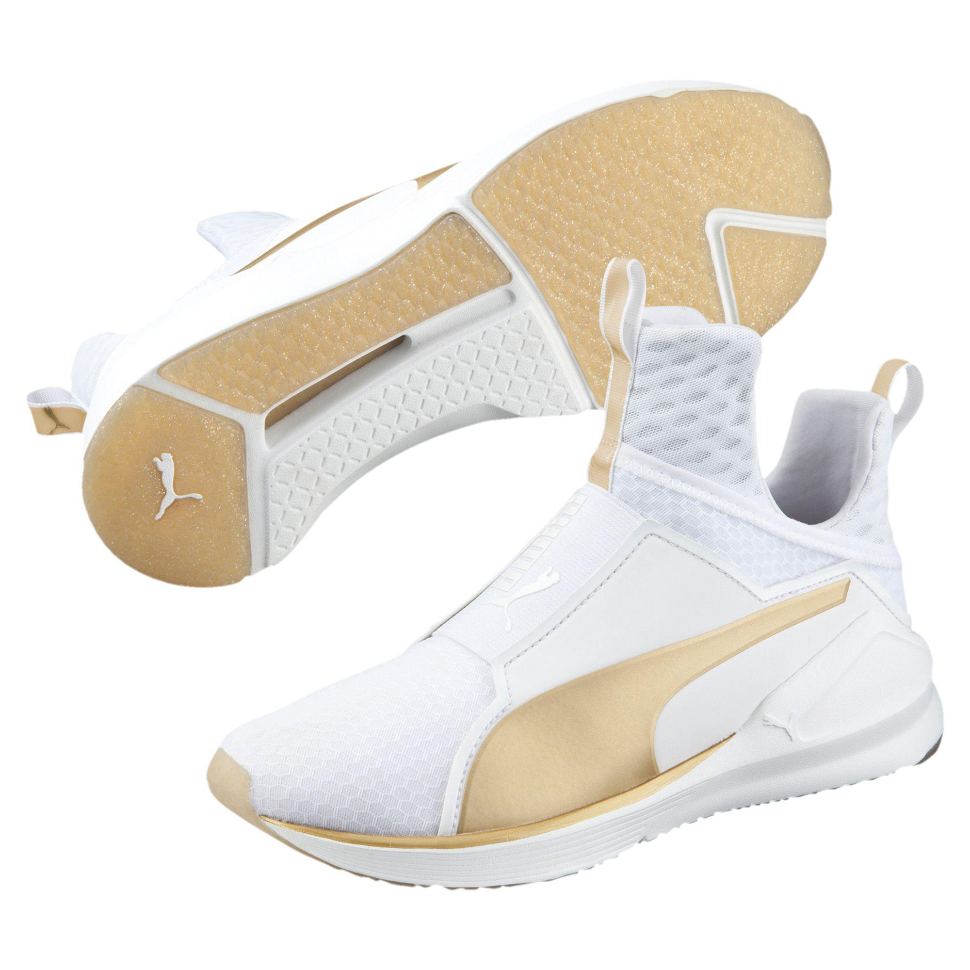 253fde1b697b Lyst - PUMA Fierce Gold Women s Training Shoes