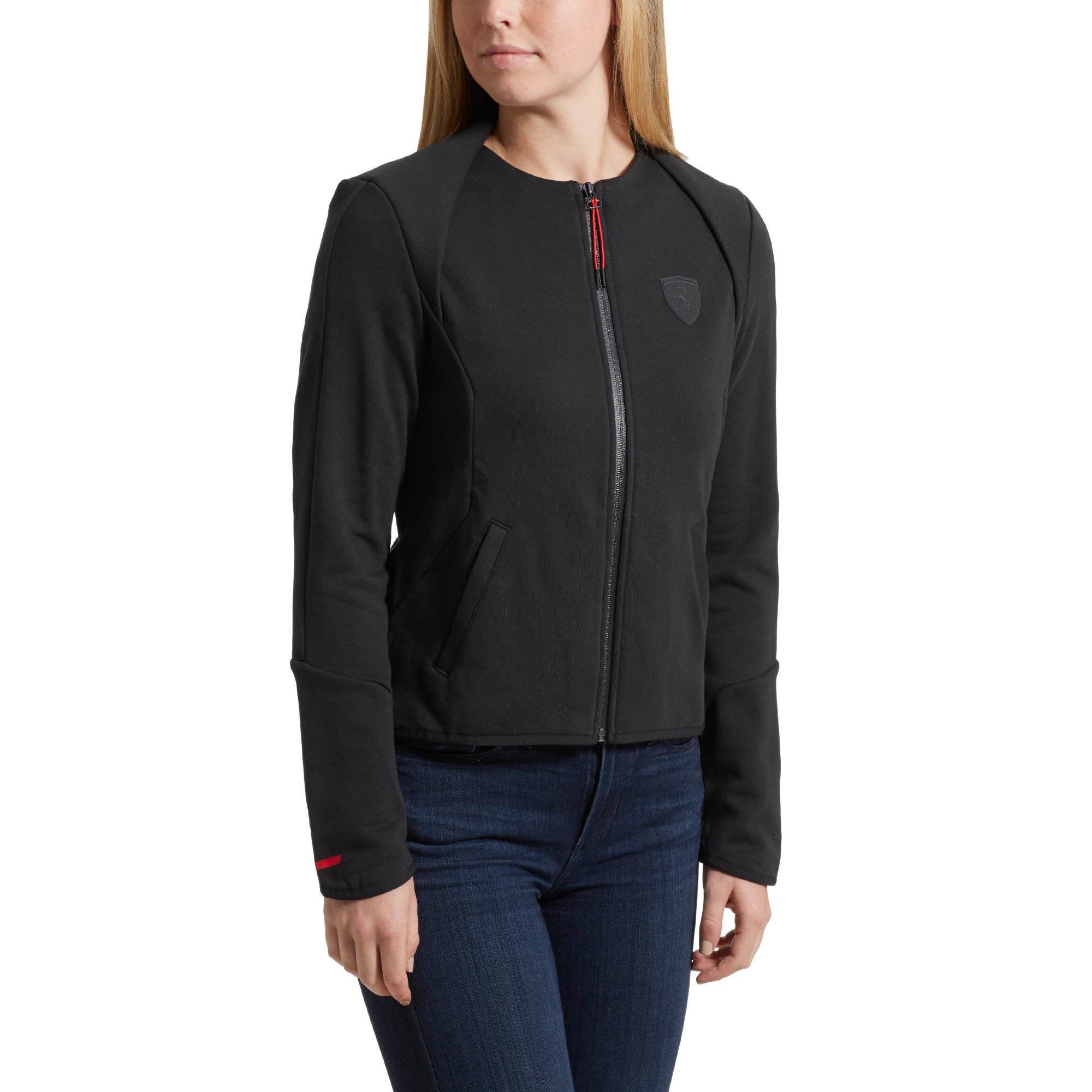 5db7e0ccb99d Lyst - PUMA Ferrari Lifestyle T7 Sweat Jacket in Black