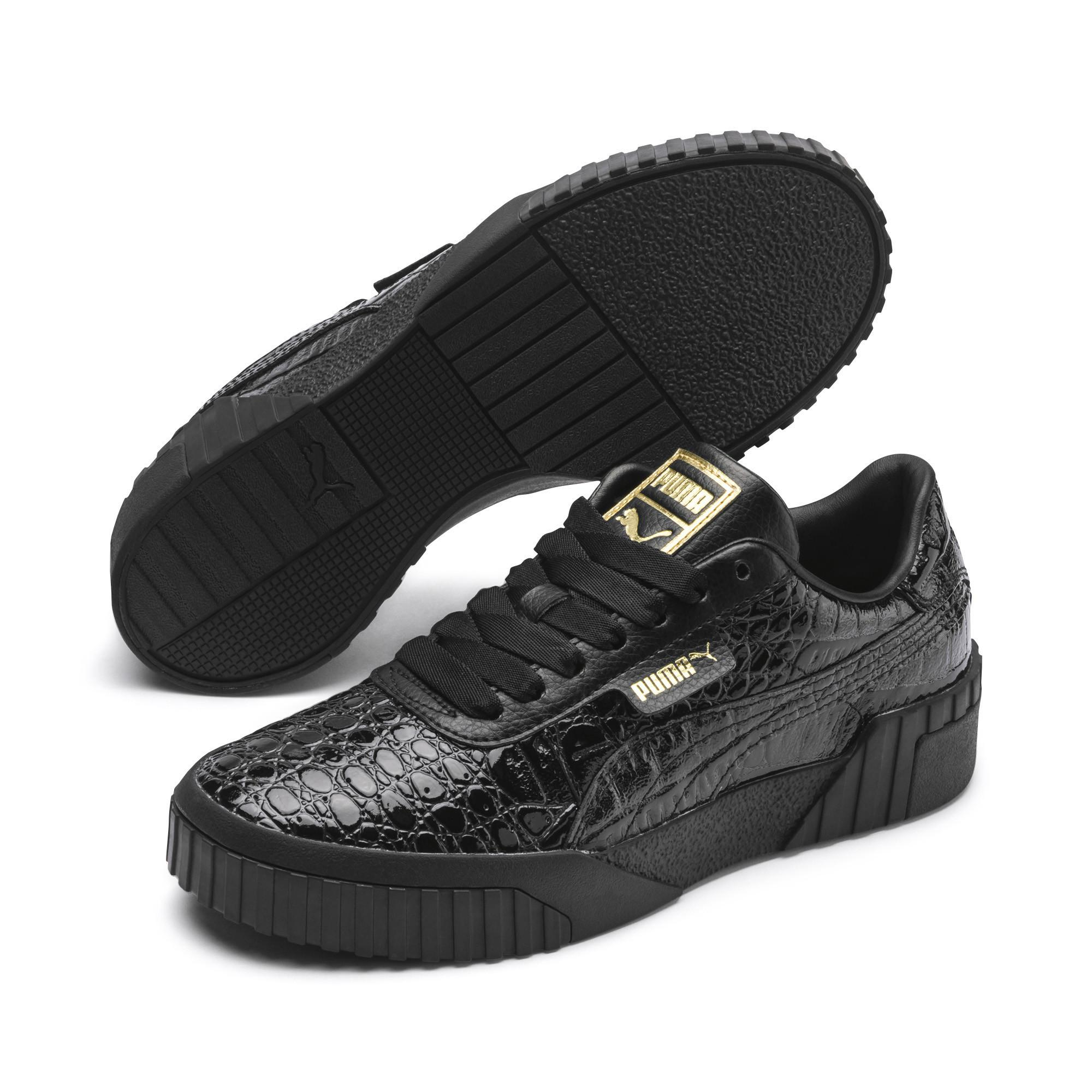 134657338b4 Lyst - PUMA Cali Croc Women s Sneakers in Black
