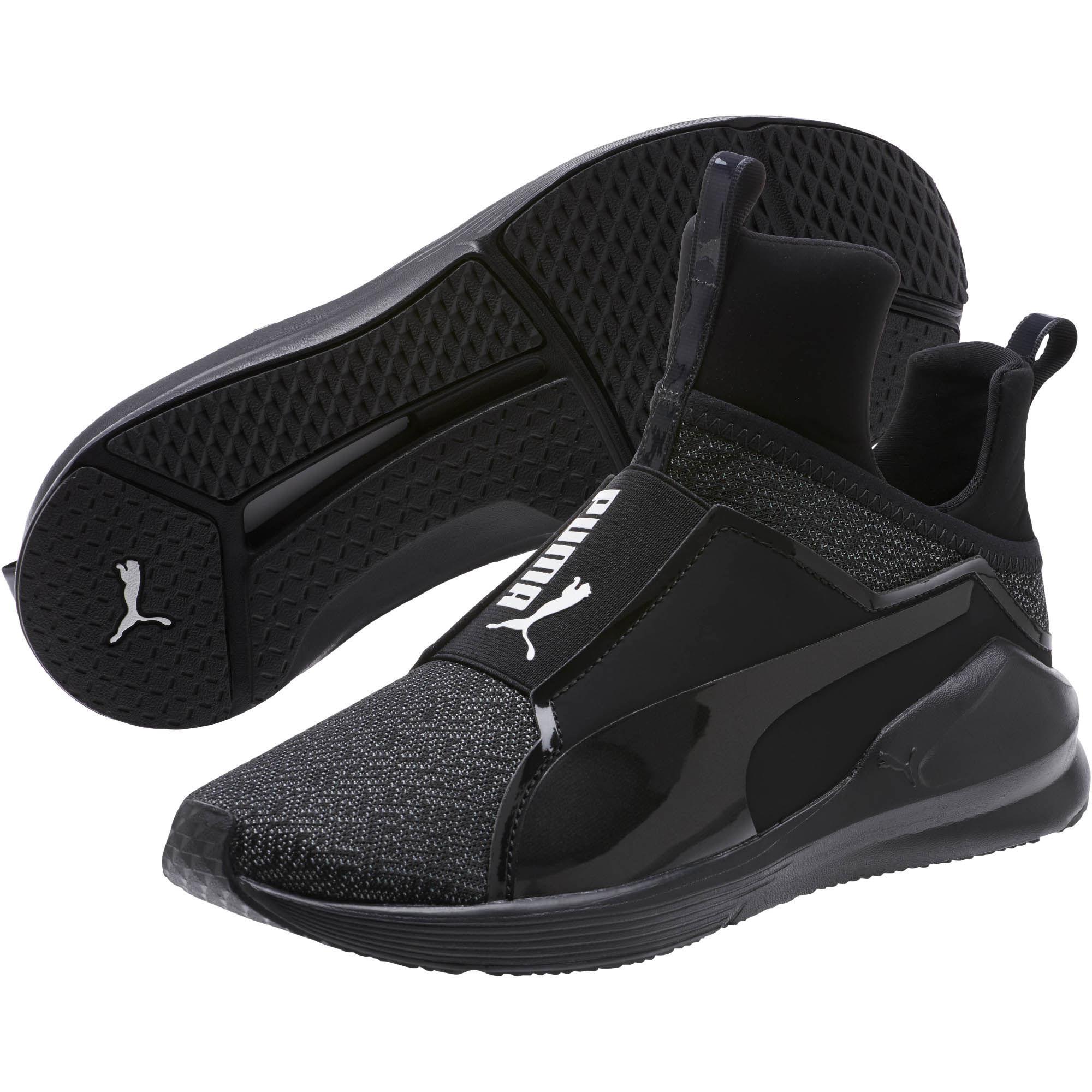 5ec80f9d355 Lyst - PUMA Fierce Varsity Knit Women s Sneakers in Black