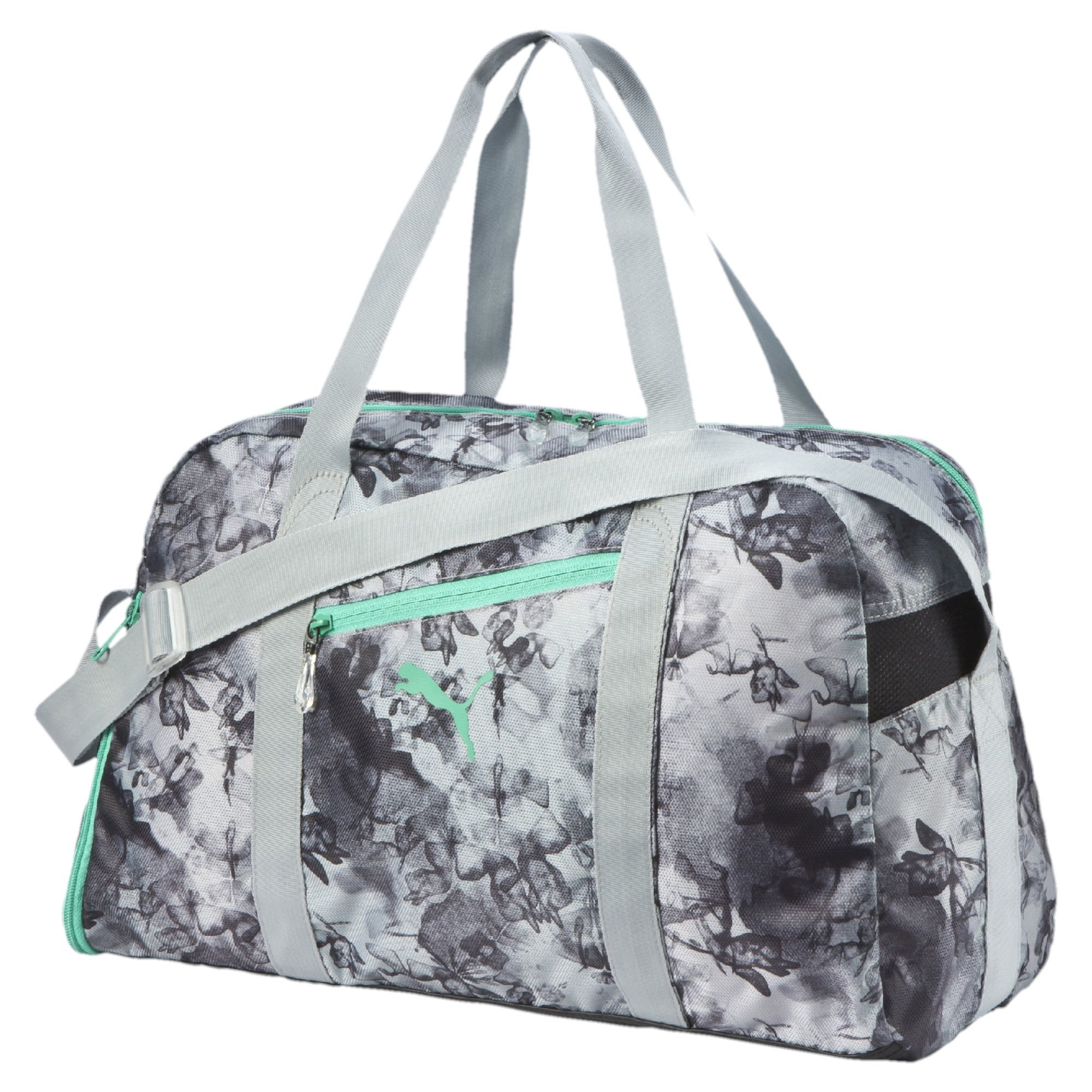 cf2e55fc759a Lyst - PUMA Fit At Sports Duffel Bag in Gray