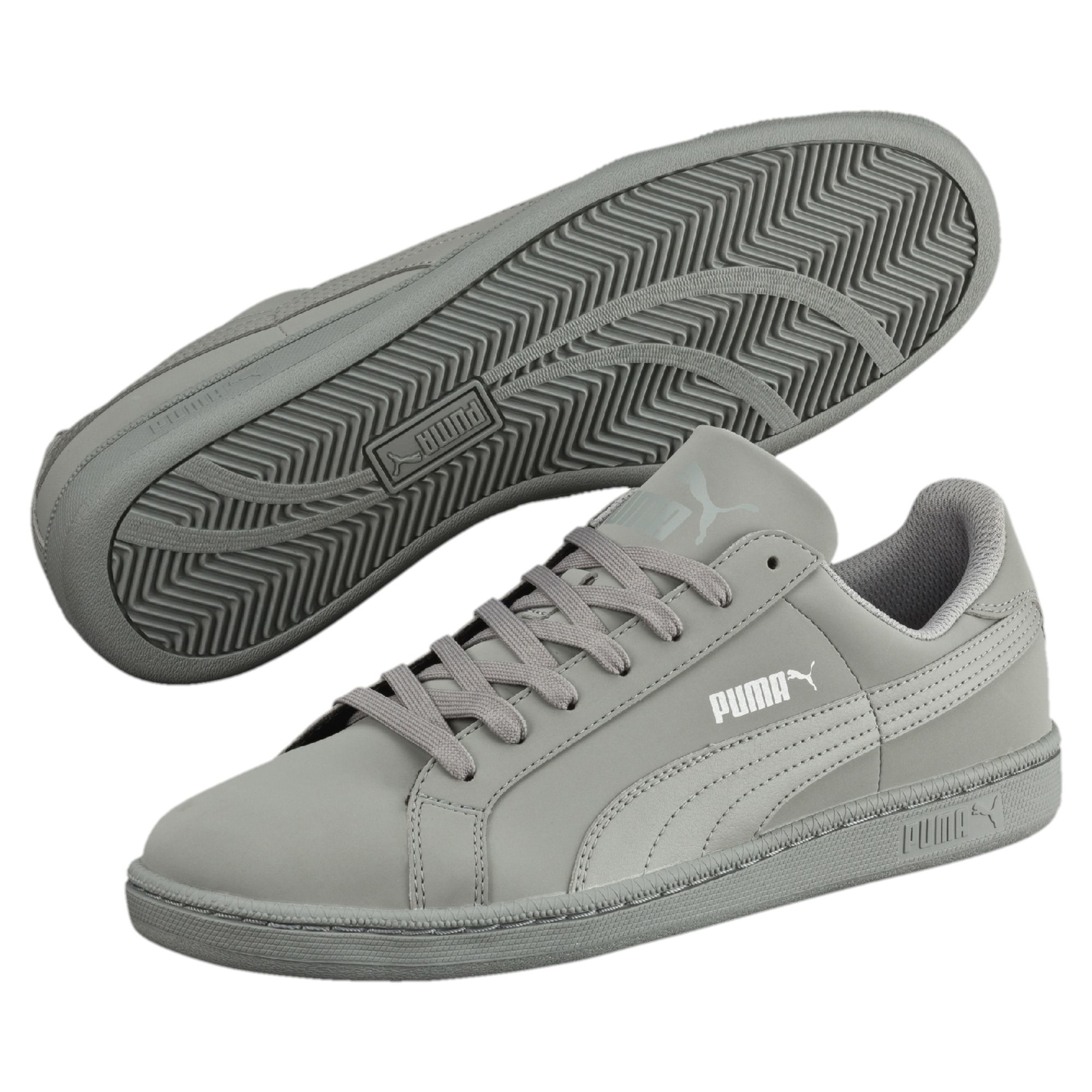 Mens Puma Smash Sneaker Grey/Black