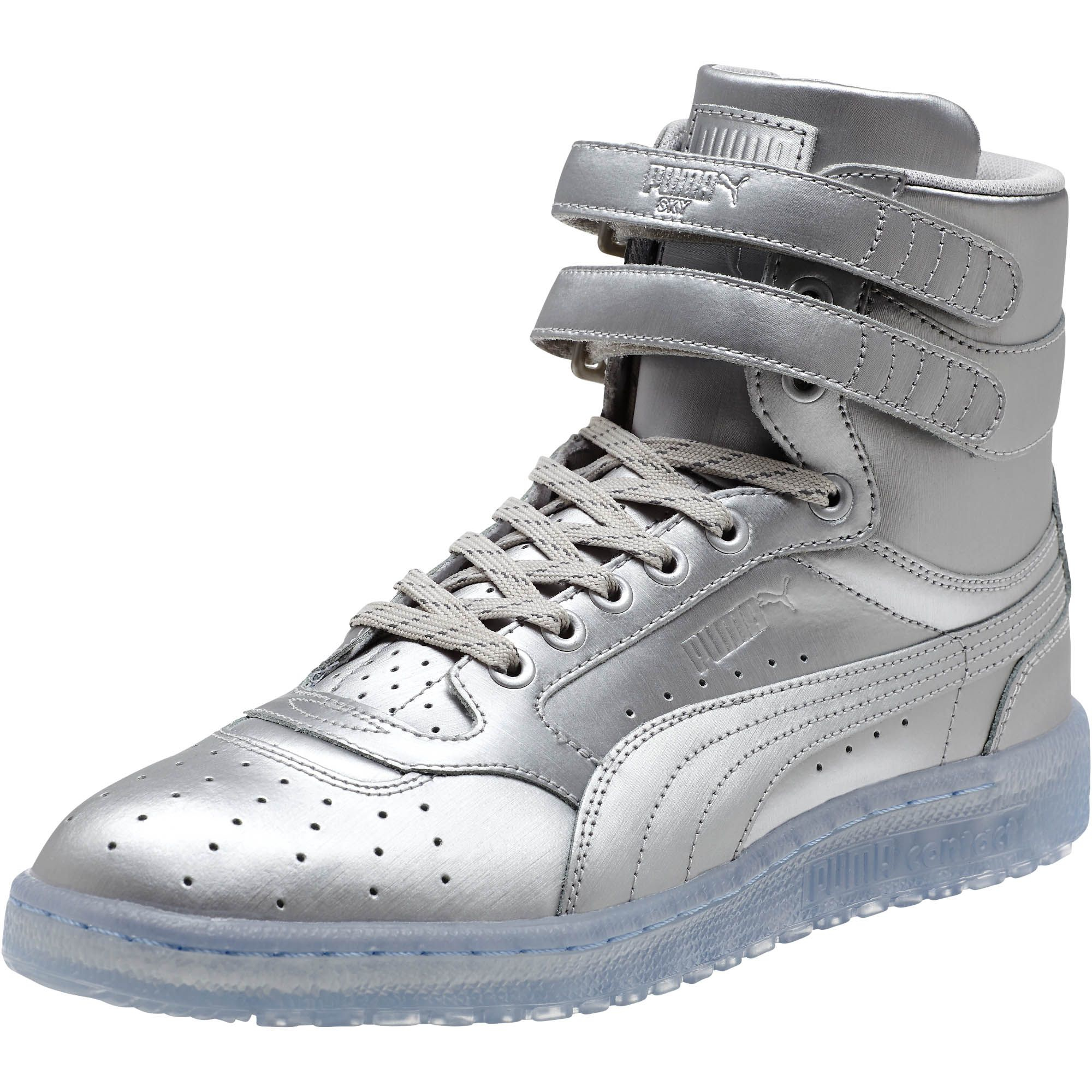 8aa5318f03d Lyst - PUMA Sky Ii Hi Platinum Men s Sneakers in Metallic for Men