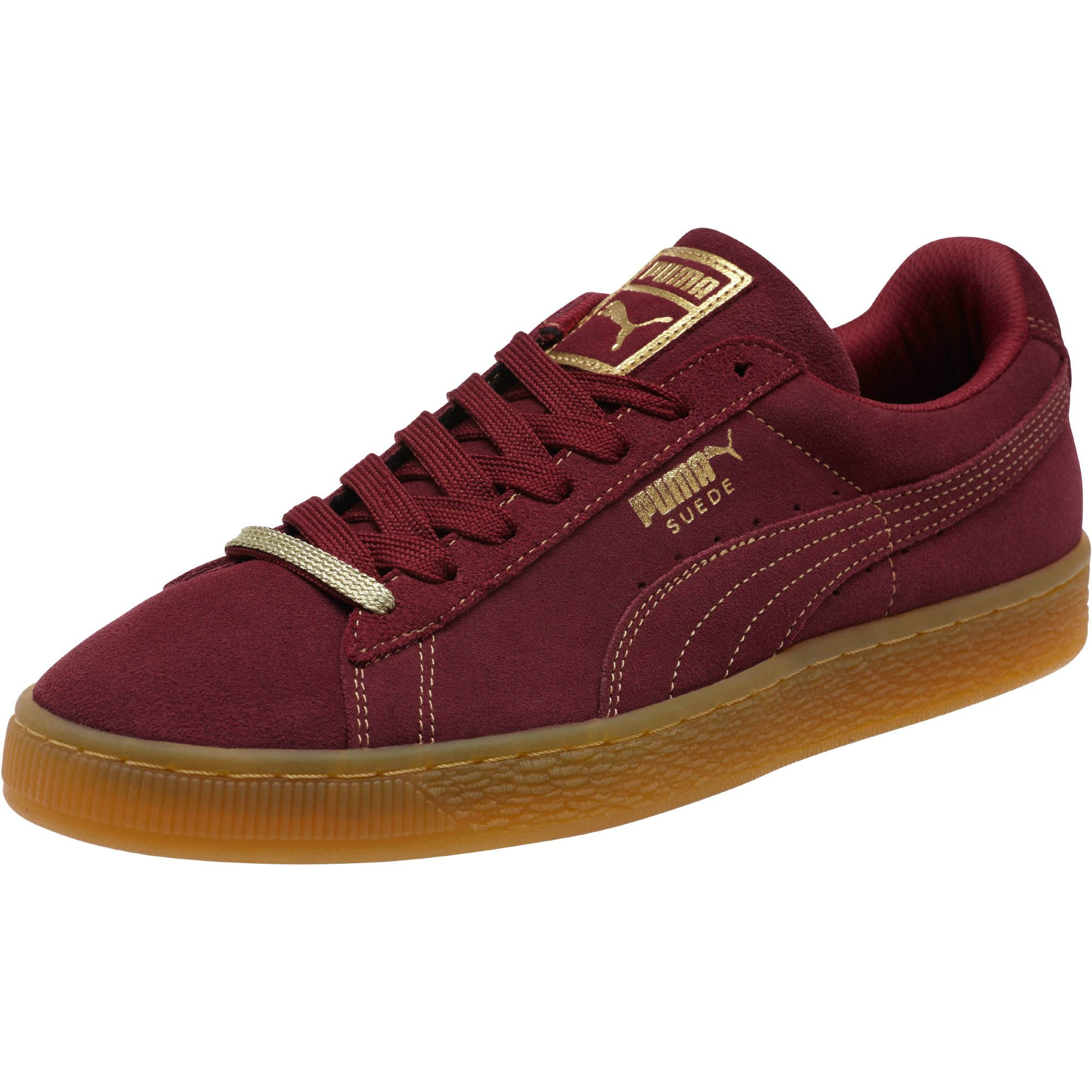 402e6ccea661c4 Lyst - PUMA Suede Classic Gold Foil Men s Sneakers in Red for Men