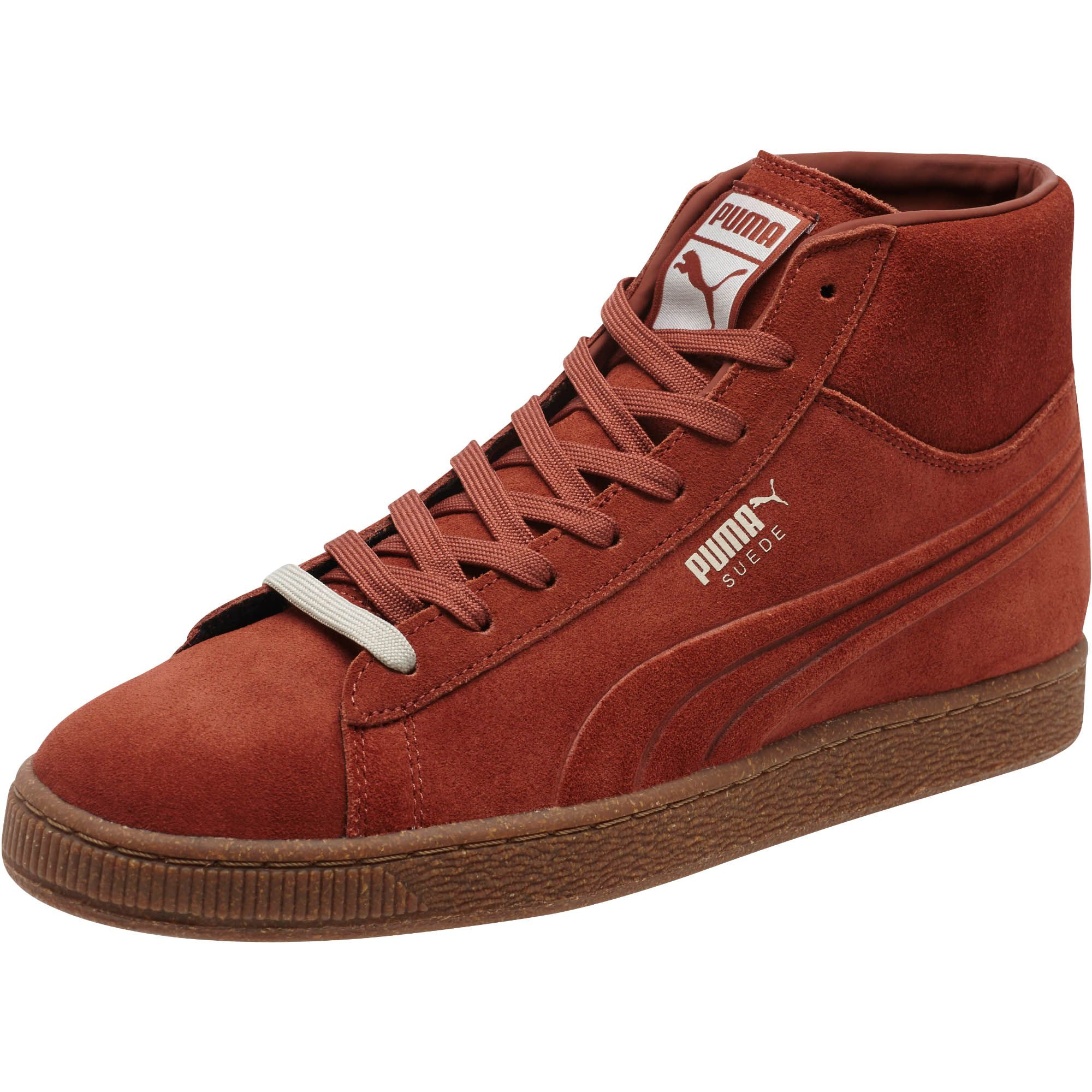Puma Suede Embossed Mixed Rubber Mid Men S Sneakers In
