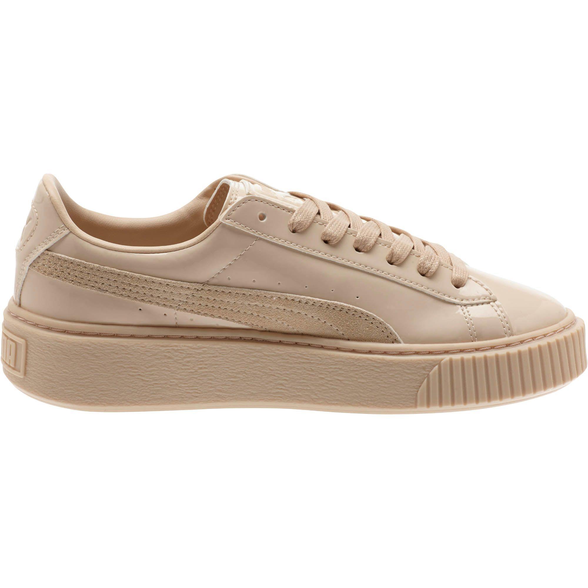 Puma Basket Patent Leather Platform Sneaker