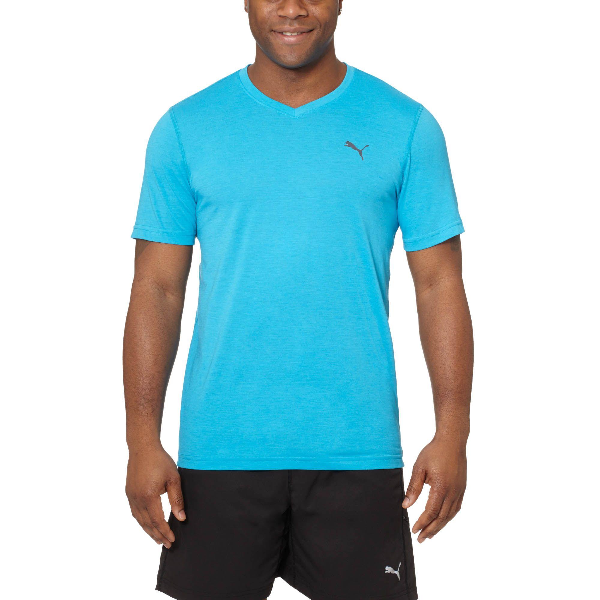 Puma Essential V Neck T Shirt In Blue For Men Lyst