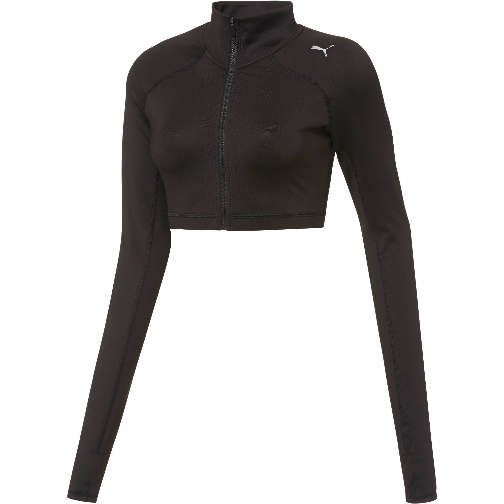 633e2d2a278 PUMA All Eyes On Me Long Sleeve Crop Top in Black - Lyst
