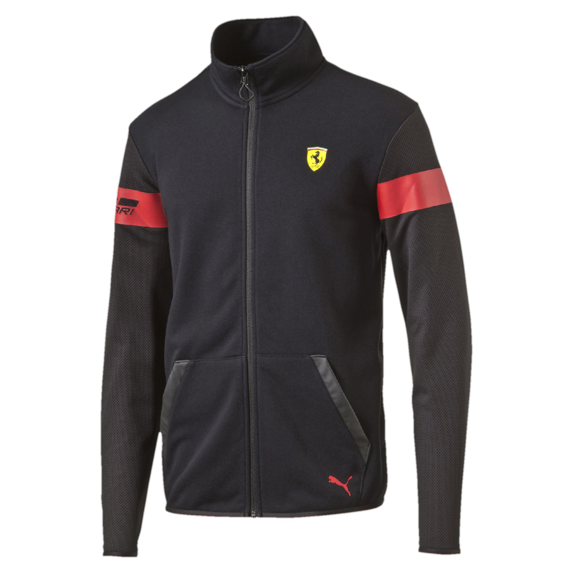Puma Ferrari Jacket In Black For Men Lyst