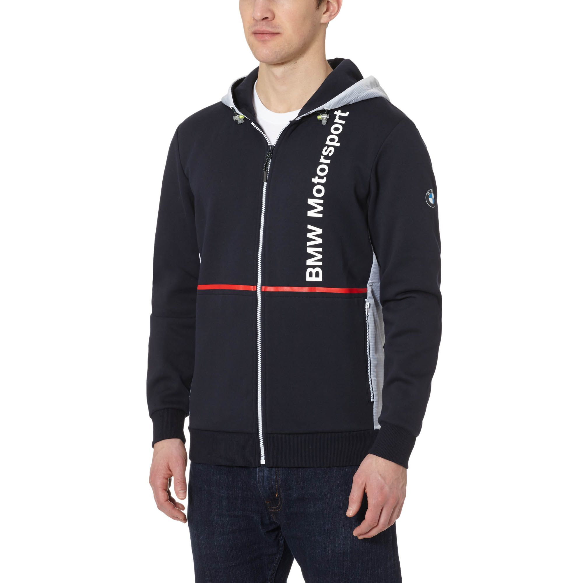 Puma Bmw Zip up Hoodie in Blue for Men | Lyst