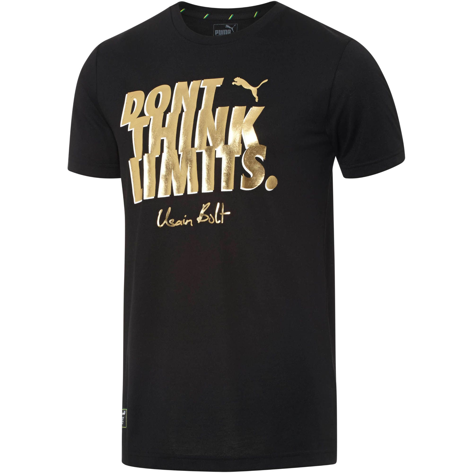 Puma Usain Bolt Slogan T Shirt In Black For Men Lyst