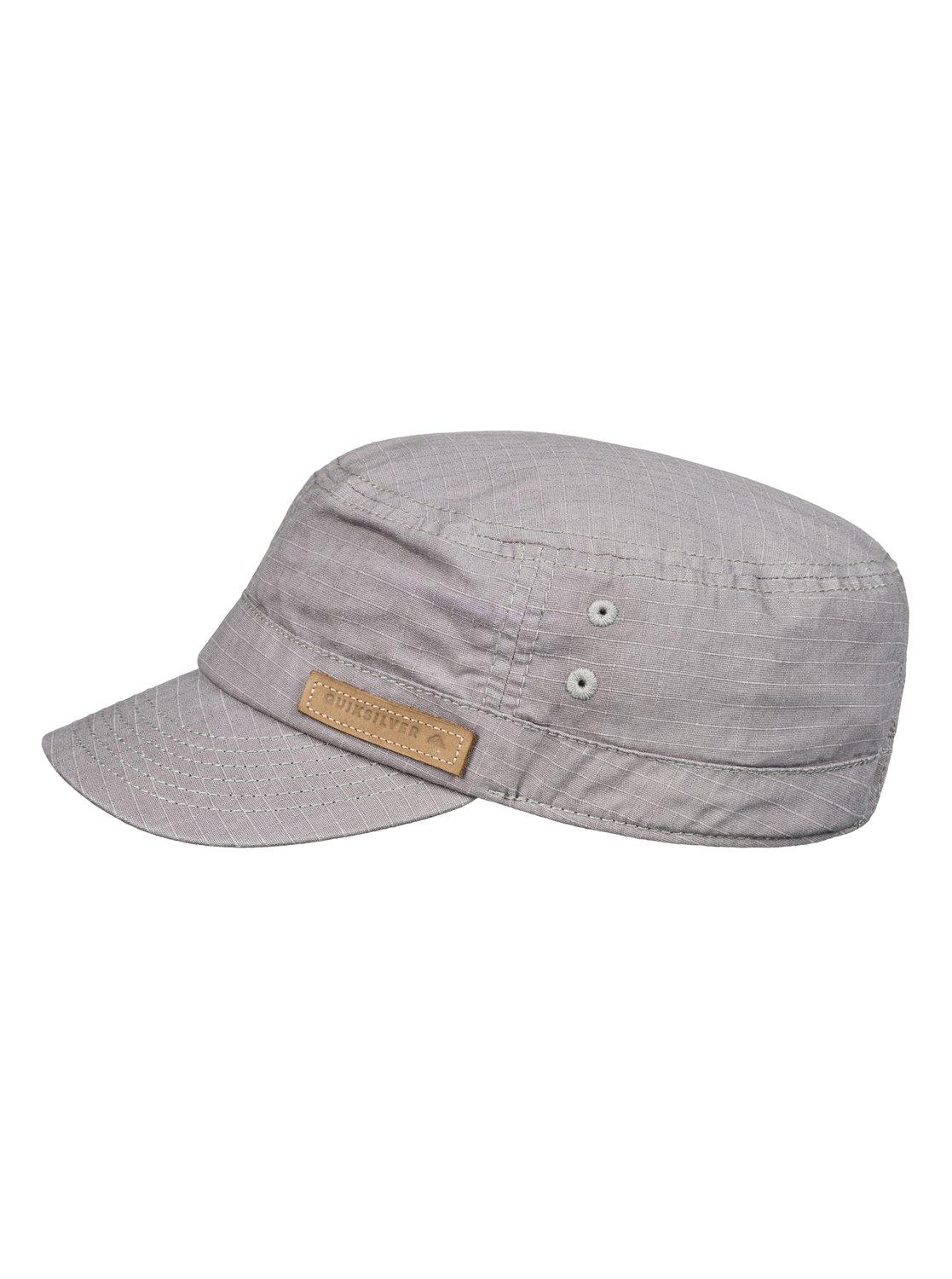 size 40 a2262 d41bc ... best price quiksilver gray military cap for men lyst. view fullscreen  62e49 ab352