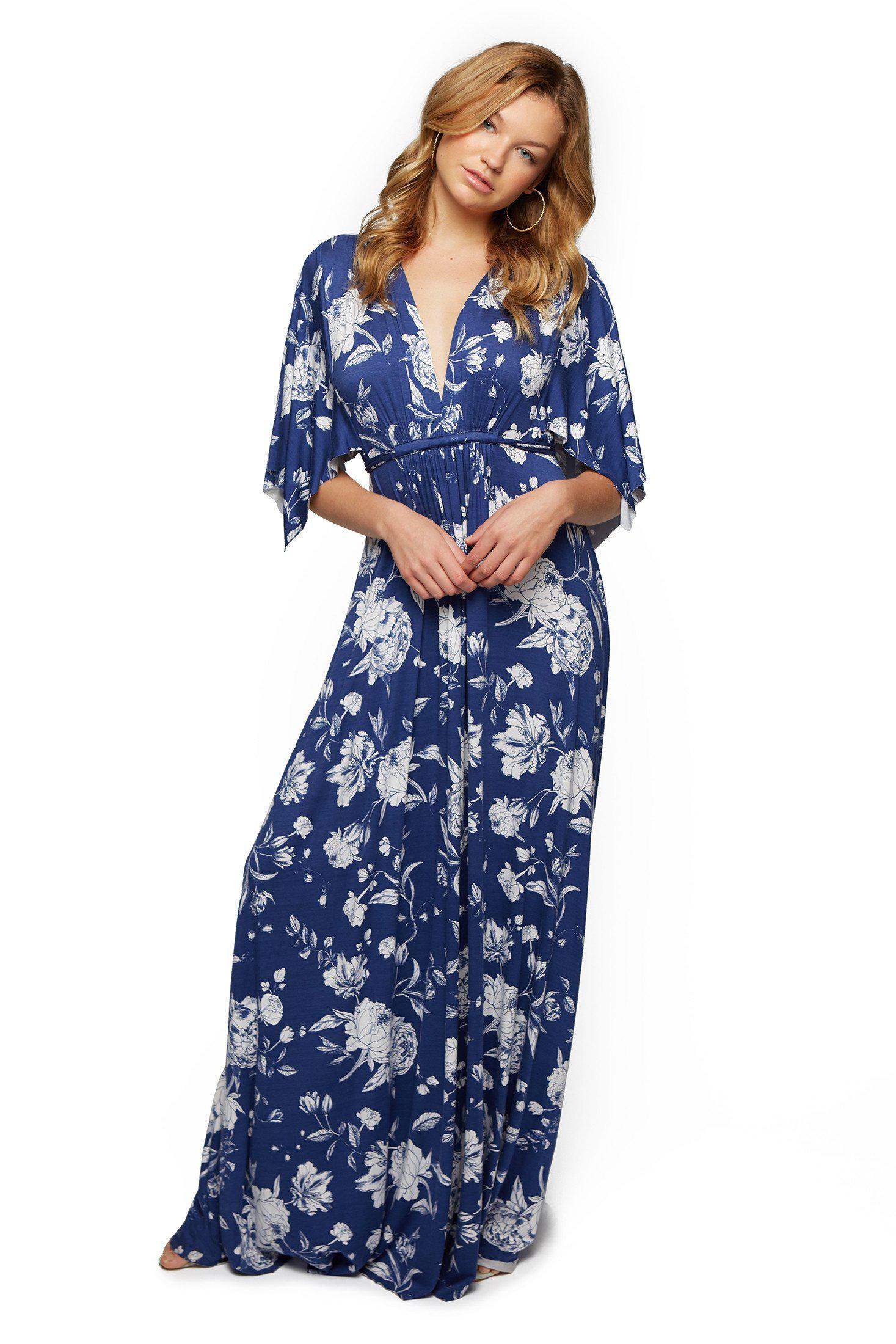 d48daa01d5ed8 Rachel Pally Long Caftan Dress Print - Seaside Peony in Blue - Lyst