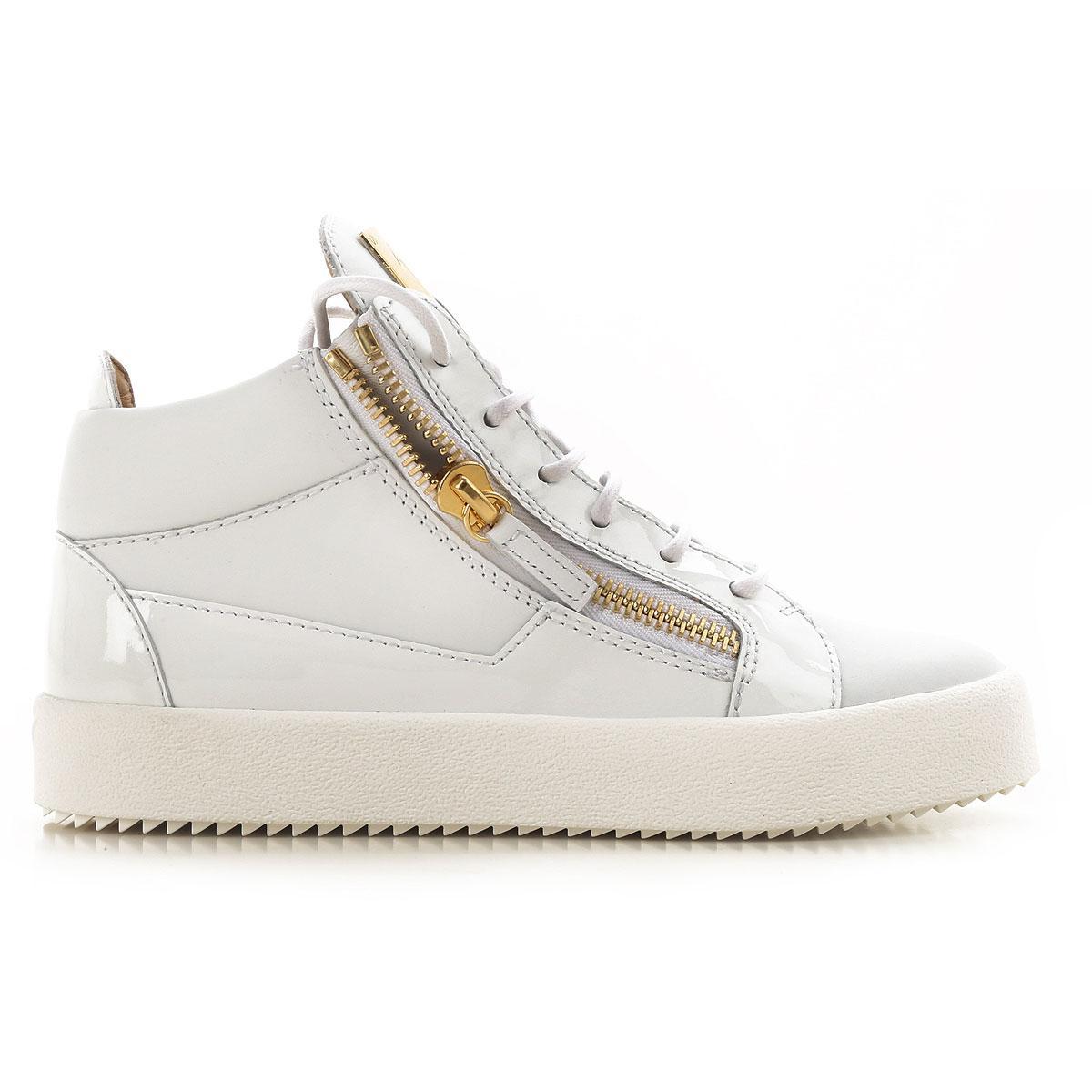 Giuseppe Zanotti - White Sneaker Femme Pas cher en Soldes - Lyst. Afficher  en plein écran 821b176953ac