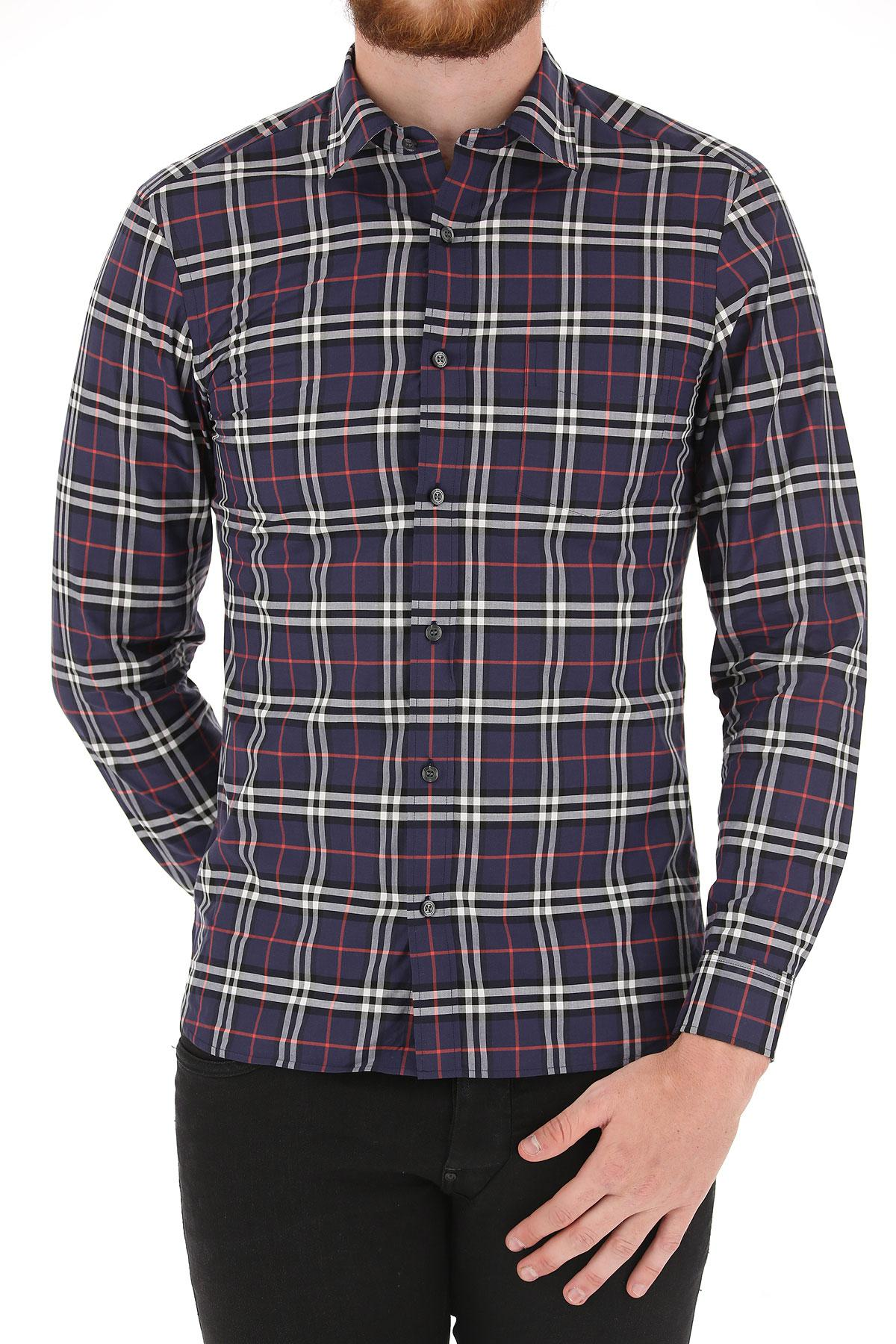 Lyst Burberry Shirt For Men On Sale In Blue For Men