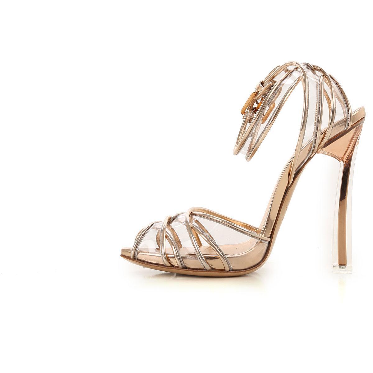 d5d96b158f7 Casadei - Metallic Sandals For Women On Sale In Outlet - Lyst. View  fullscreen