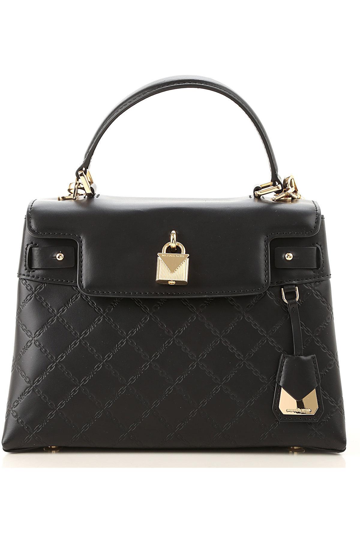 a71cd59d988a78 Lyst - Michael Kors Top Handle Handbag in Black