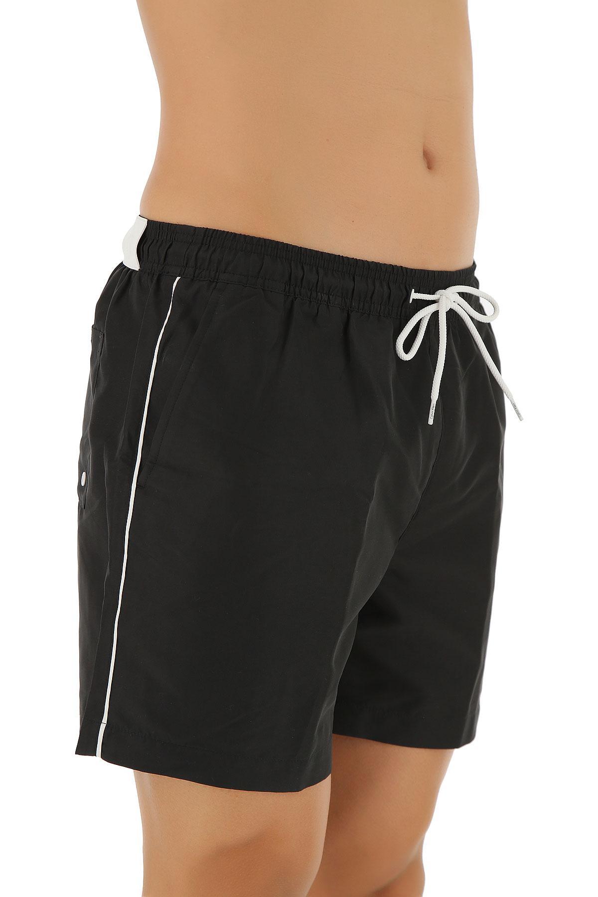 4a7e0699a5 Calvin Klein - Black Swim Shorts Trunks For Men for Men - Lyst. View  fullscreen