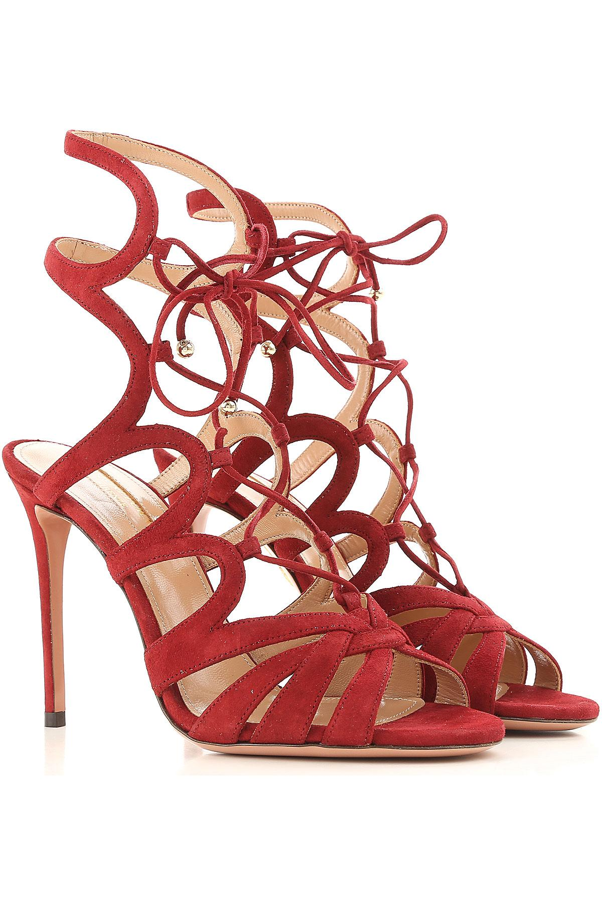 c31e991d60e76f Sandale Femme Aquazzura en coloris Rouge - 6 % de réduction - Lyst
