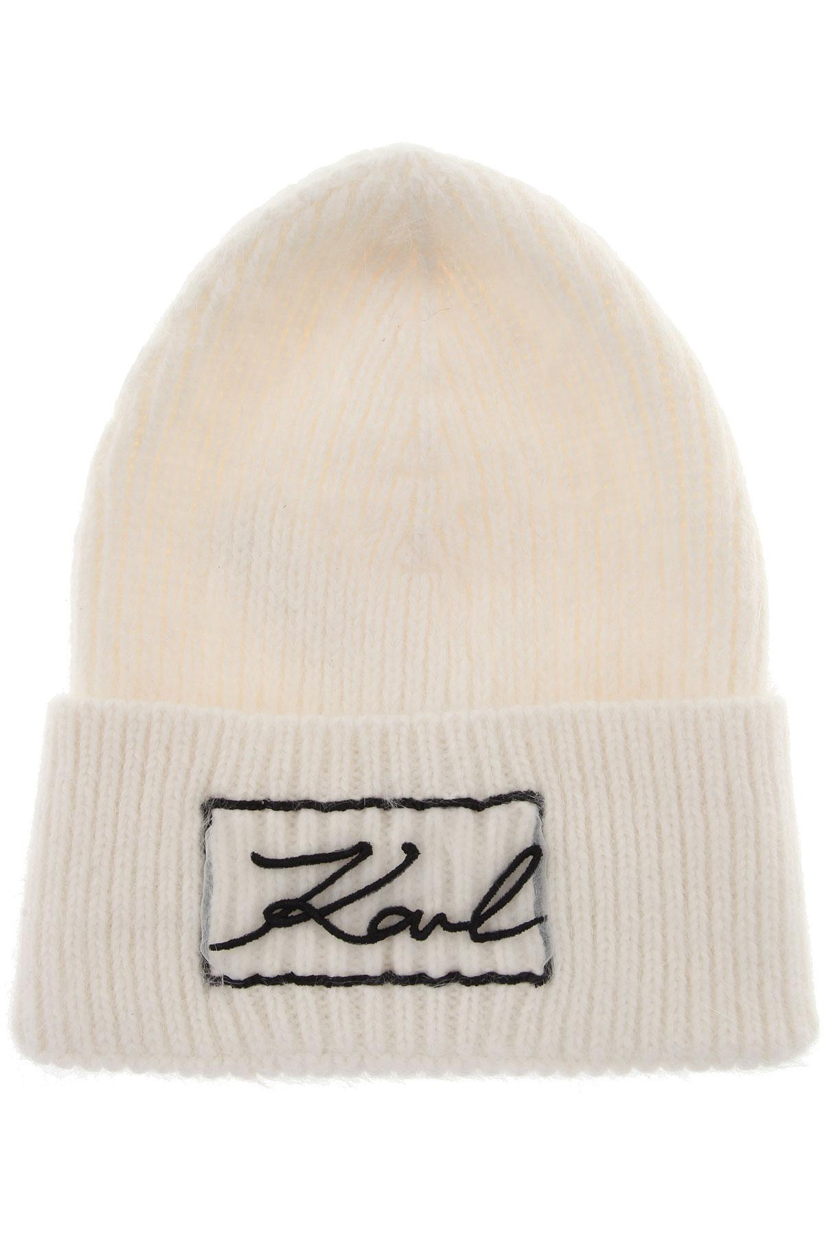 5d8593af25ab0 Karl Lagerfeld Hat For Women On Sale in White - Lyst