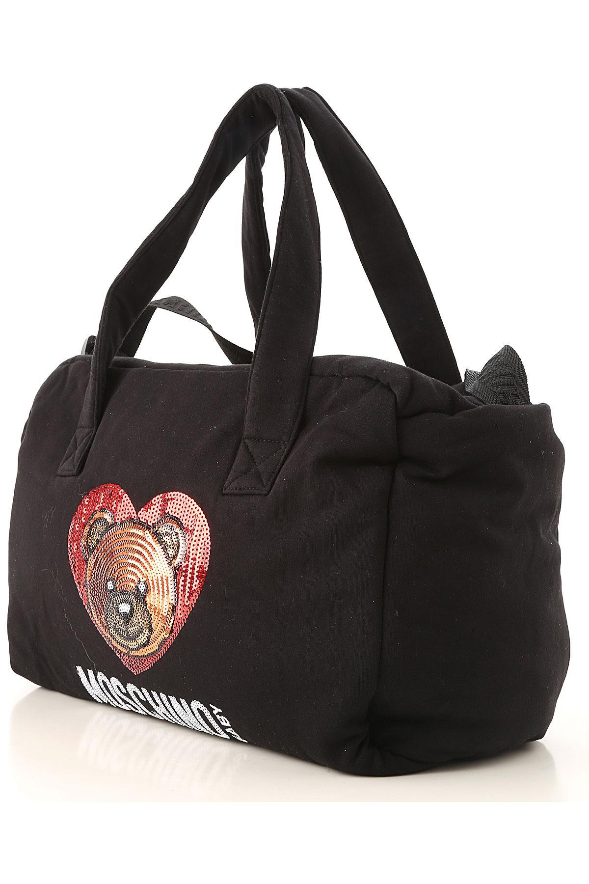 Lyst - Bolso para Bebé Niña Baratos en Rebajas Moschino de color Negro 8fabb77ac20