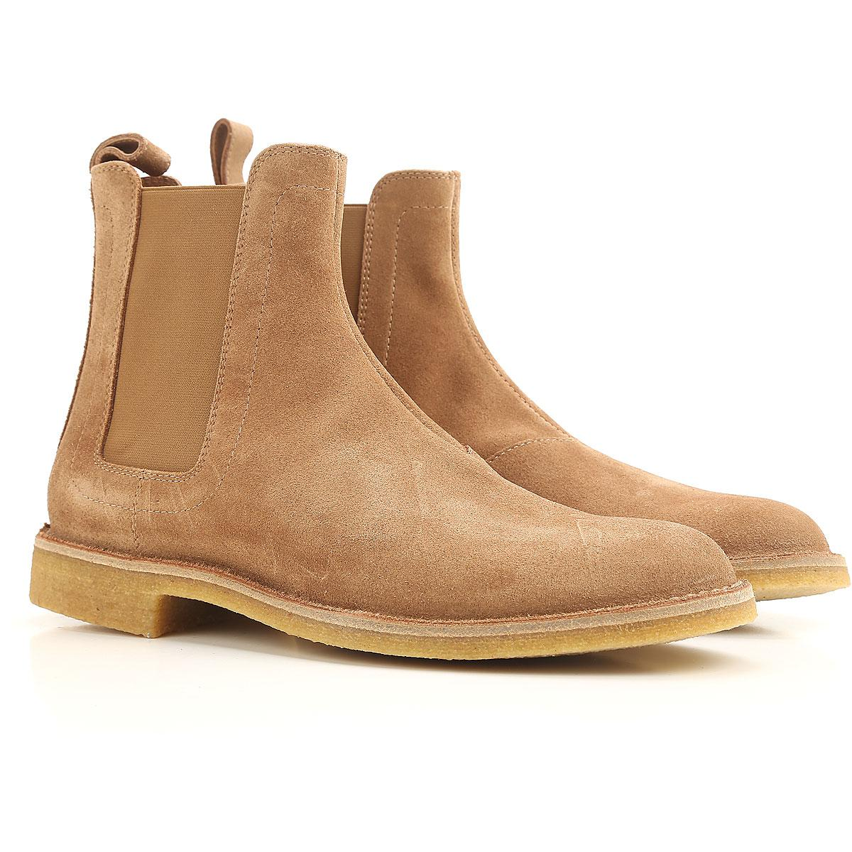 Boots for Men, Booties On Sale, Ardoise, Suede leather, 2017, 9.5 Bottega Veneta