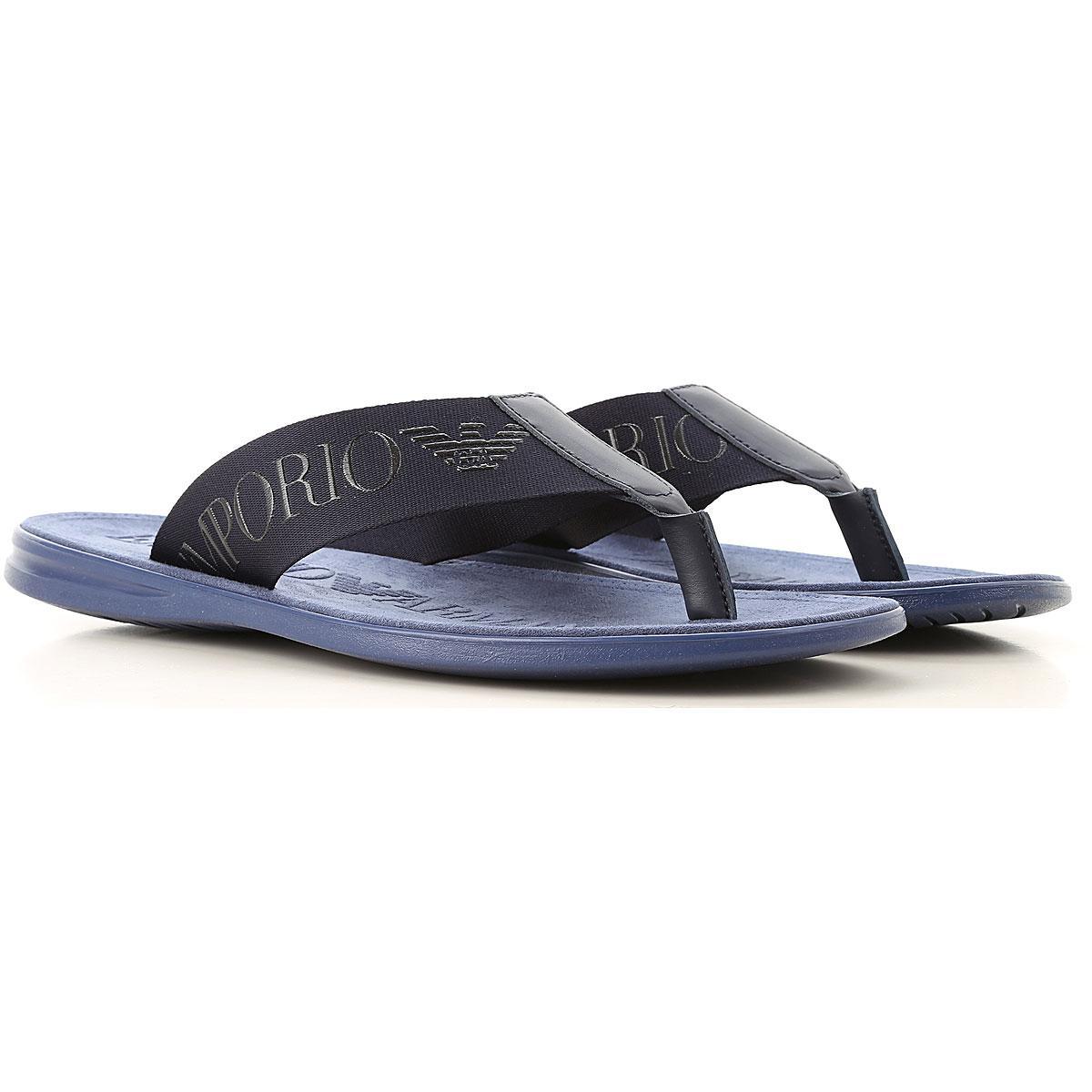 e74cc288071d66 Lyst - Emporio Armani Sandals For Men in Blue for Men