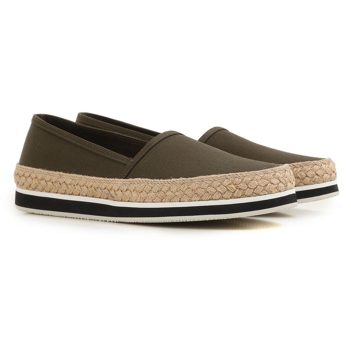 Lyst - Prada Slip On Sneakers For Women On Sale In Outlet in Green 61f376dee1