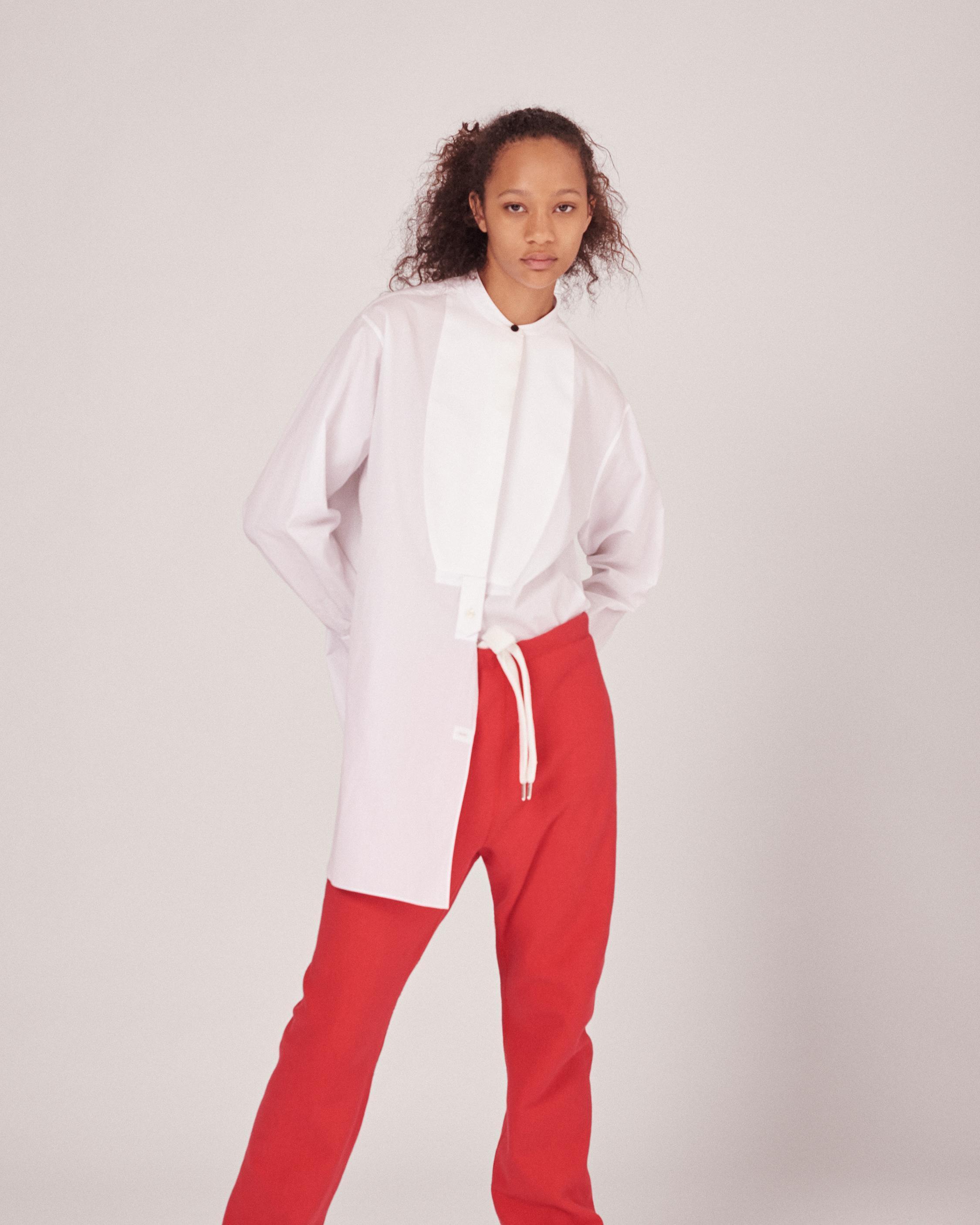 Rag bone starch tuxedo shirt in white lyst for Starch on dress shirts