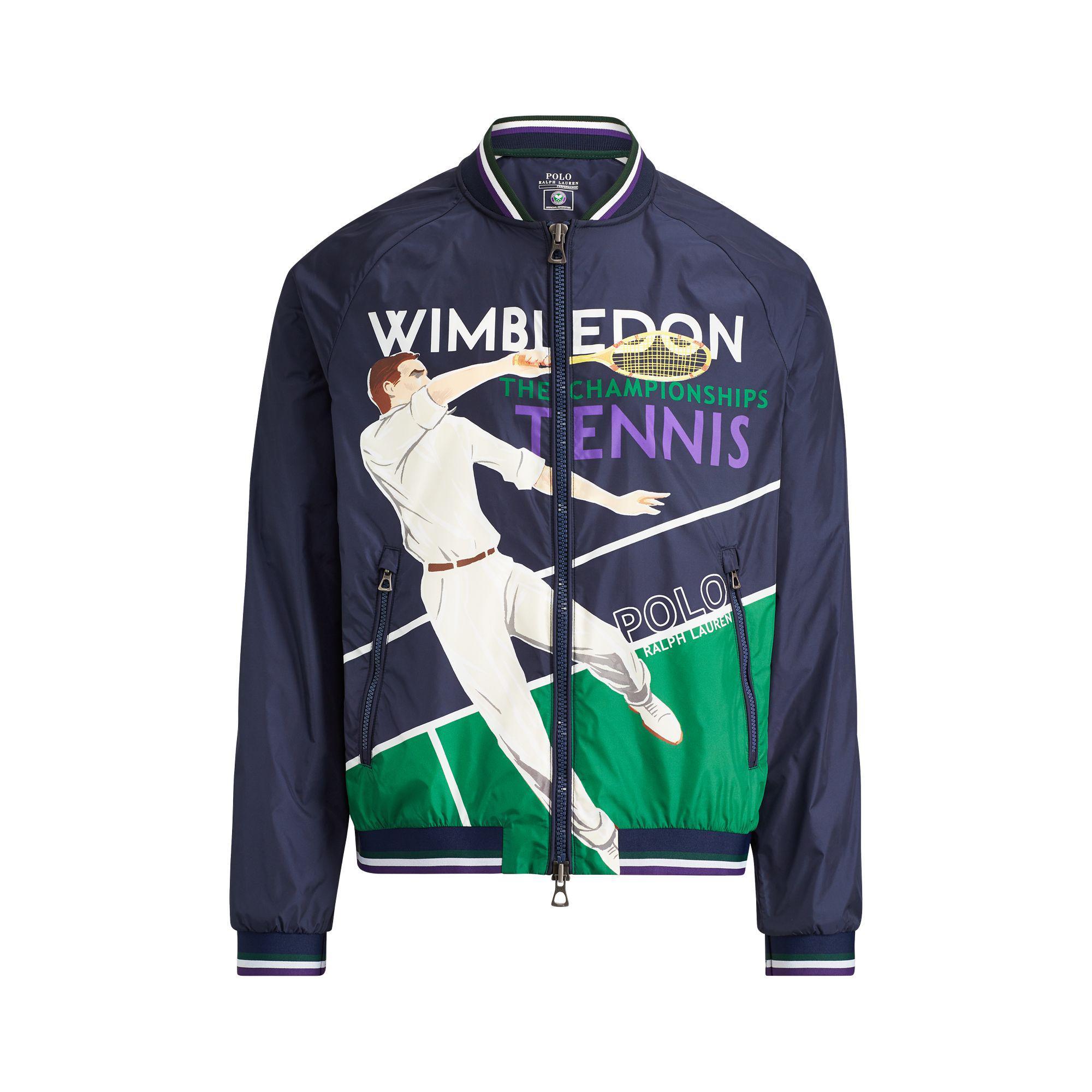 0b67b24cb580 Polo Ralph Lauren Wimbledon Print Windbreaker in Blue for Men - Lyst