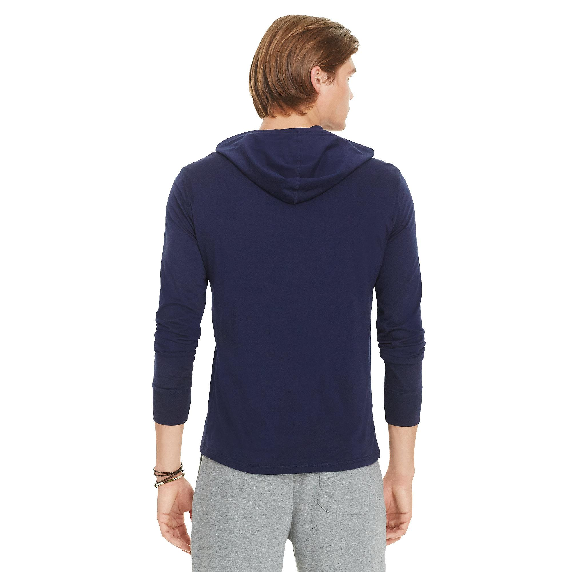 3930e9fb8 Polo Ralph Lauren Featherweight Pima Drawstring Hoodie in Blue for ...