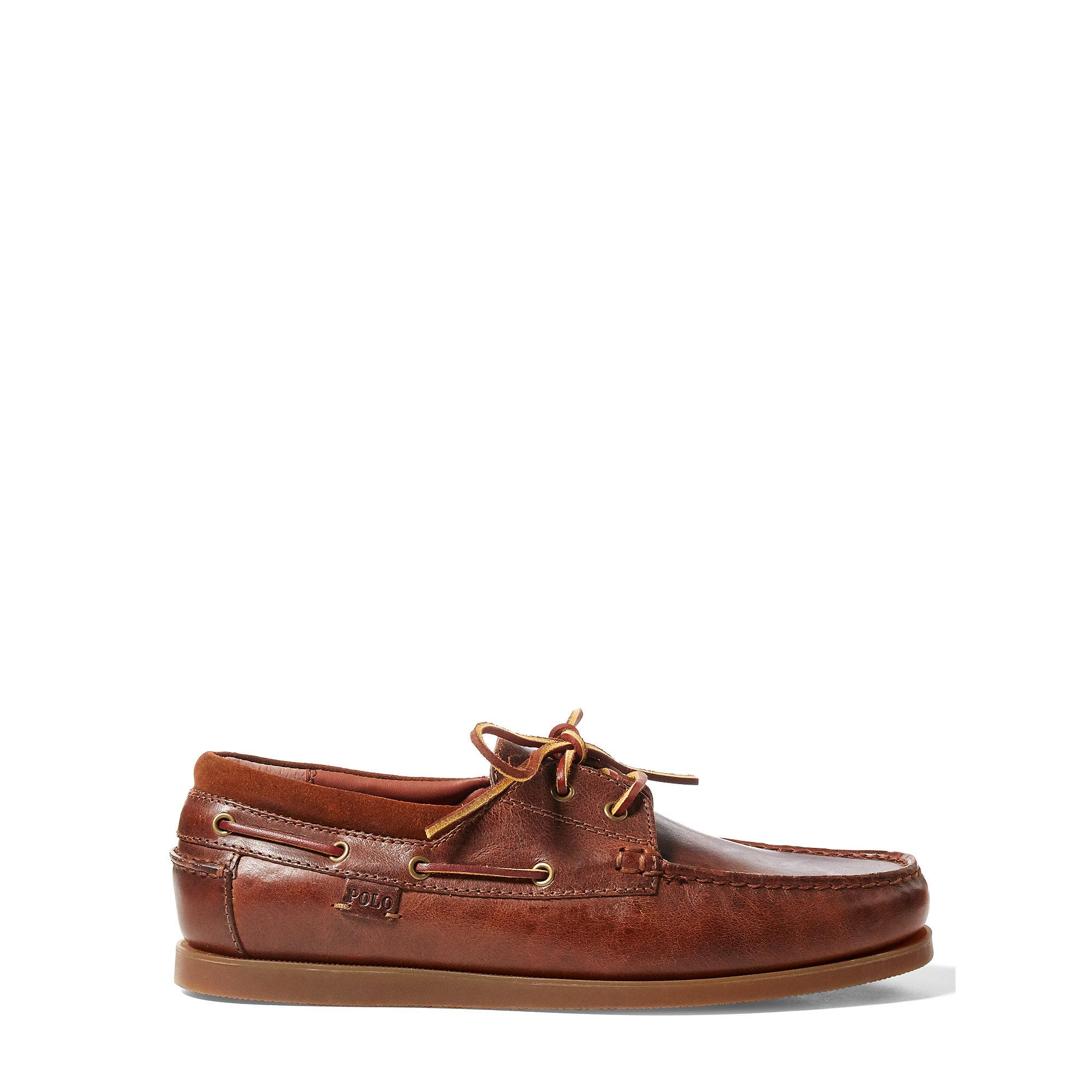 Ralph Lauren Dayne Leather Boat Shoe
