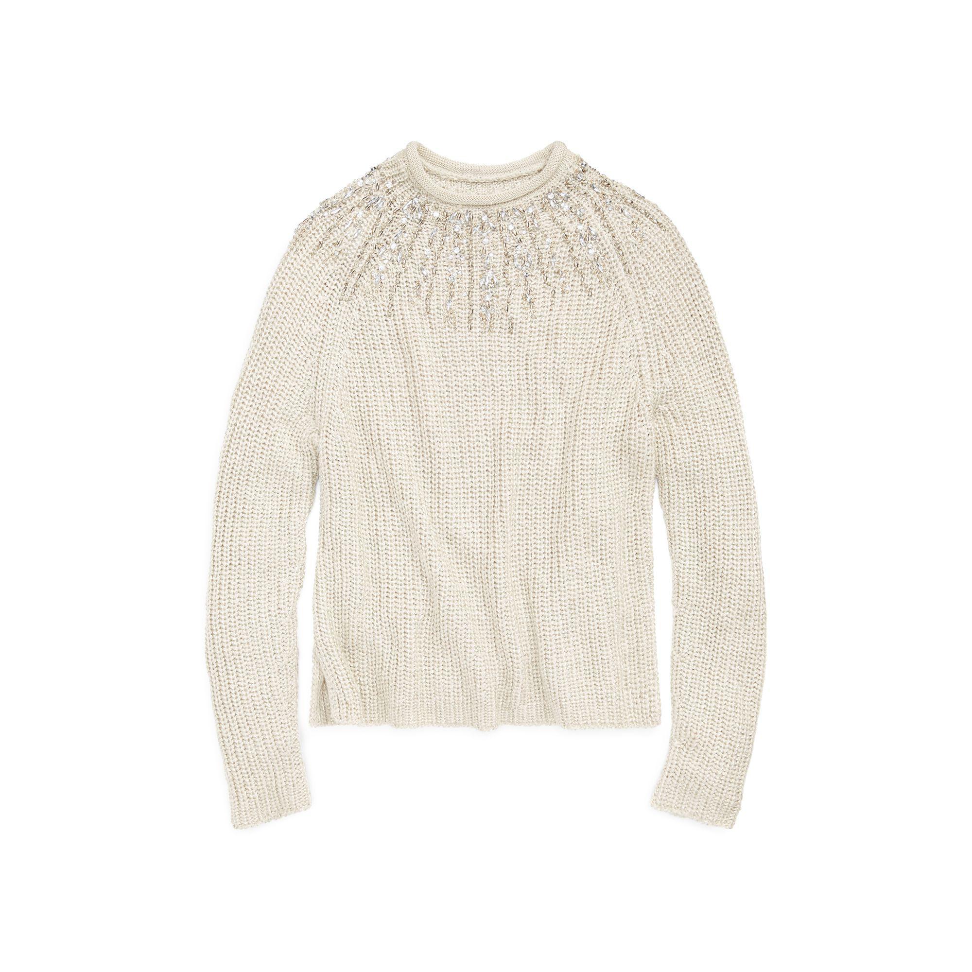 Polo Ralph Lauren. Women\u0027s Beaded Rollneck Sweater