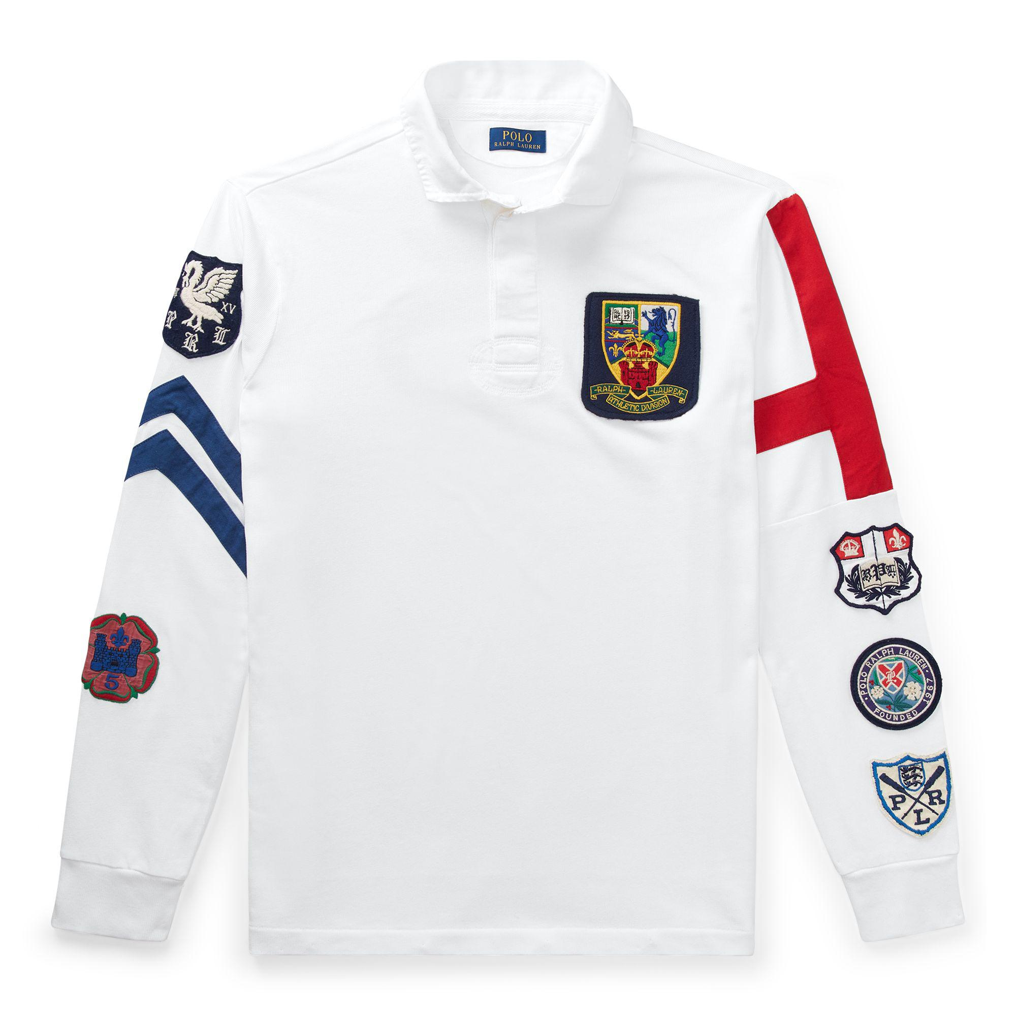 6618978c67c ... sweden polo ralph lauren white classic fit cotton rugby shirt for men  lyst. view fullscreen
