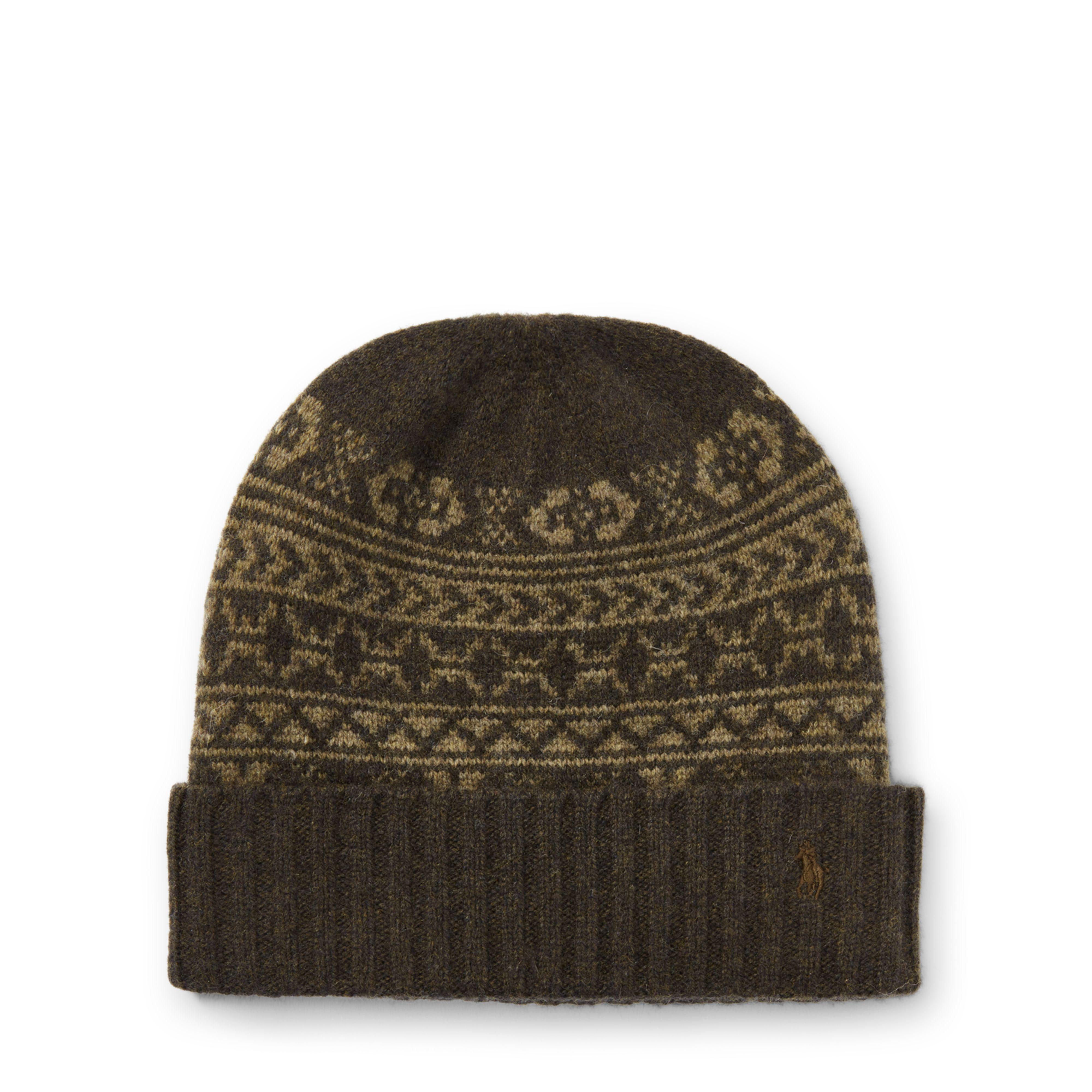 e8972efe5d100 Lyst - Polo Ralph Lauren Fair Isle Merino Wool Hat in Green for Men