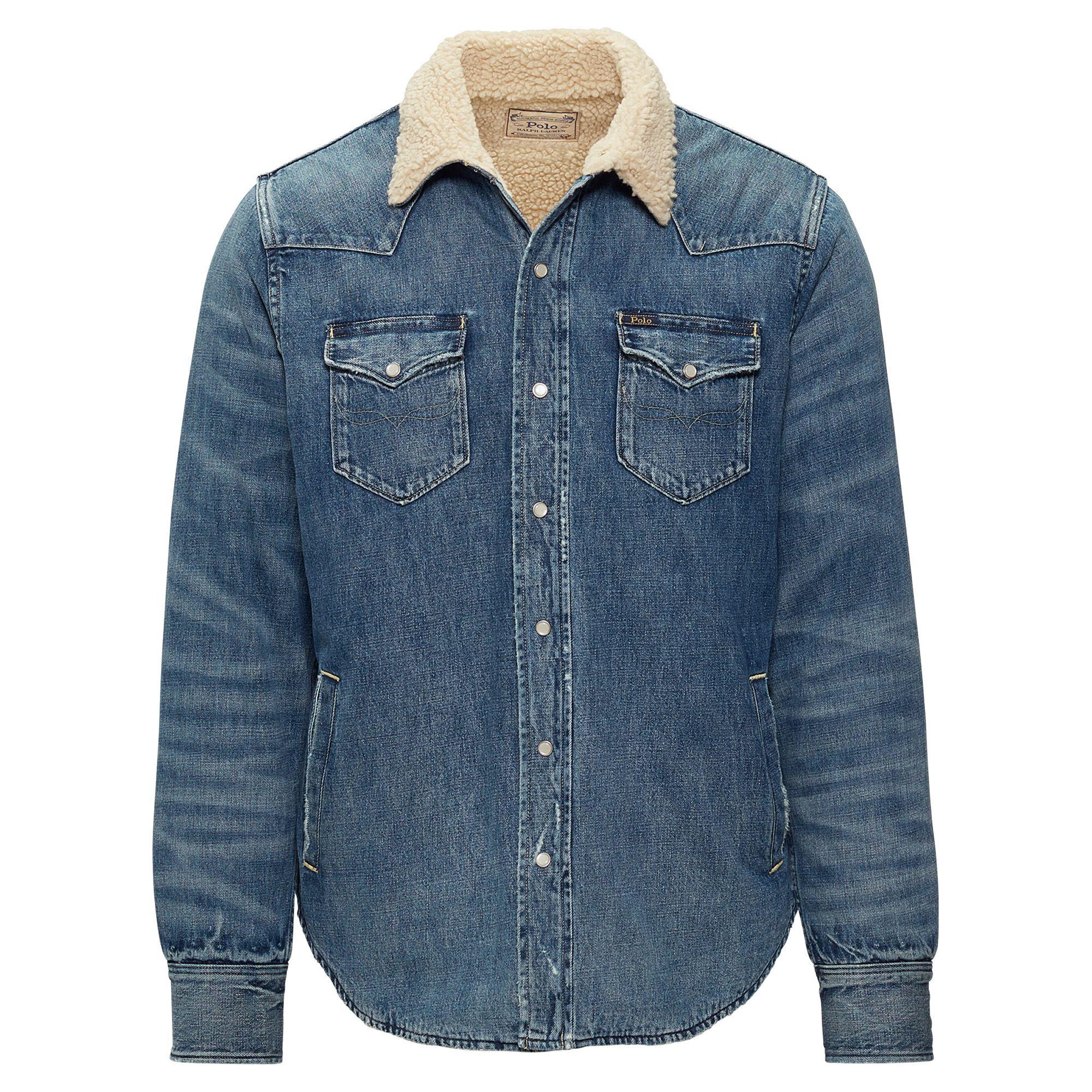 99aab9debca Polo Ralph Lauren Fleece-lined Western Overshirt in Blue for Men - Lyst
