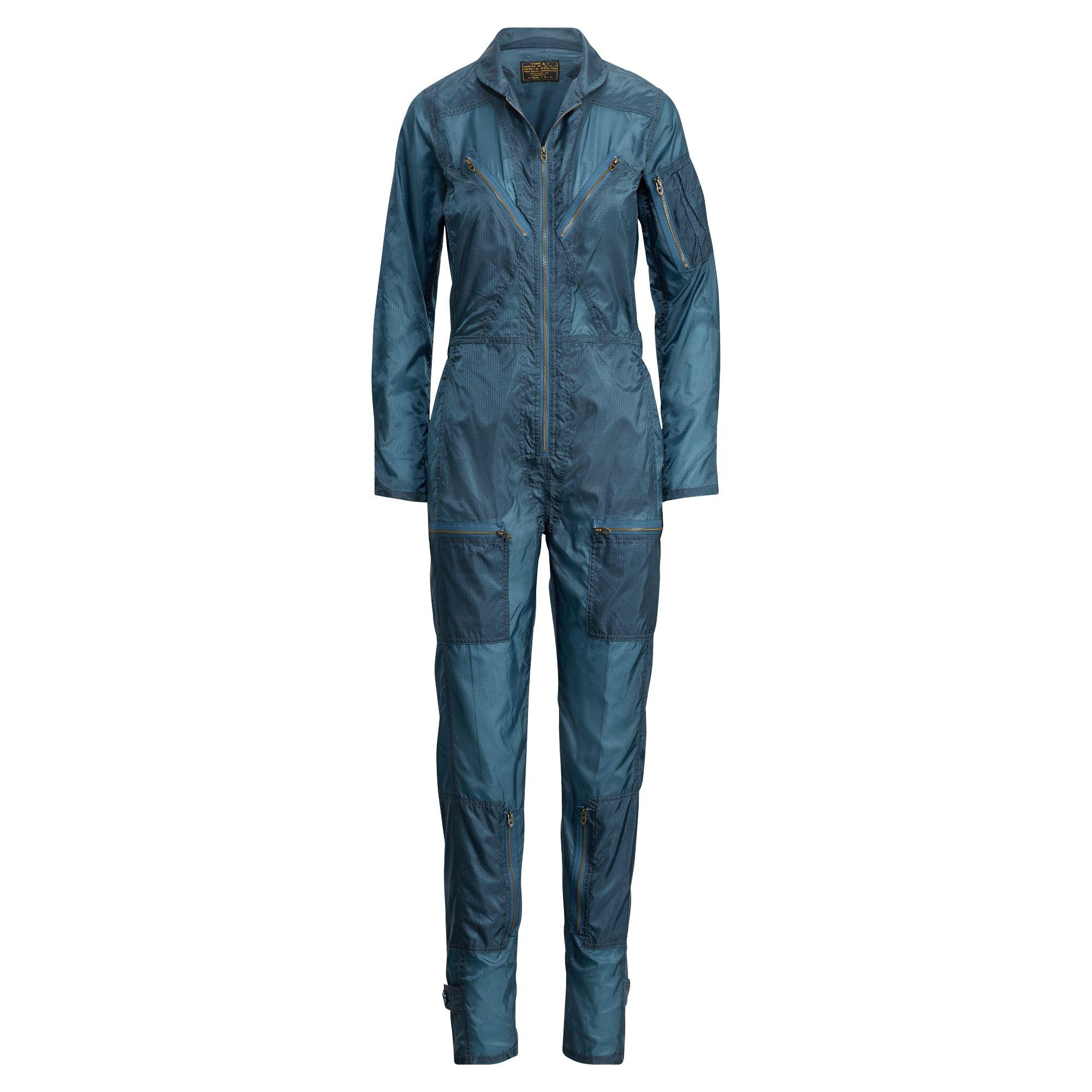 8647f035ab Lyst - Polo Ralph Lauren Ripstop Flight Jumpsuit in Blue