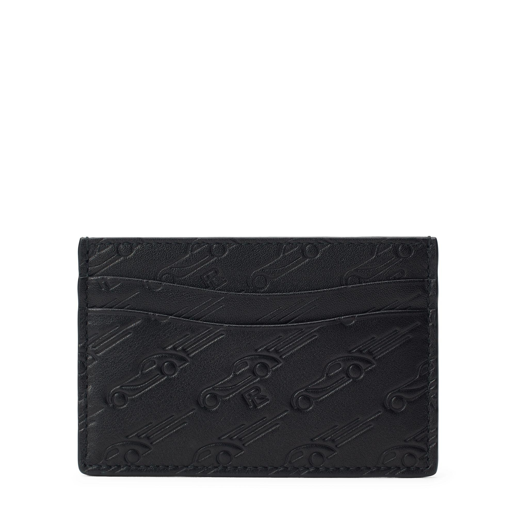 Lyst - Ralph Lauren Printed Leather Card Case in Black for Men 7567523b370f6