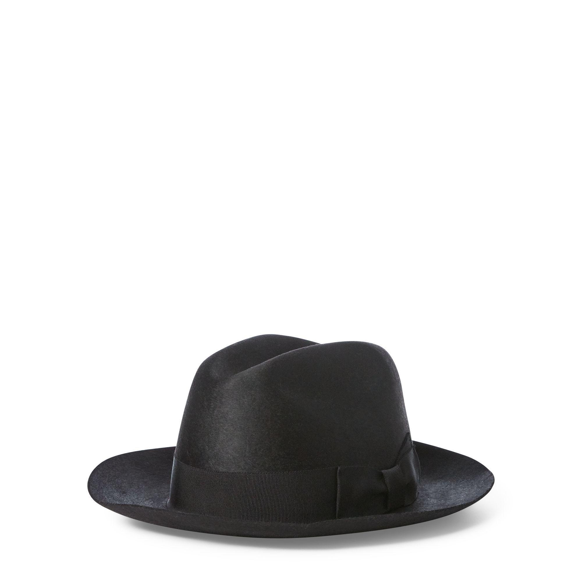 Lyst - Polo Ralph Lauren Wool Felt Fedora in Black - Save 39% 877c06a01c8a