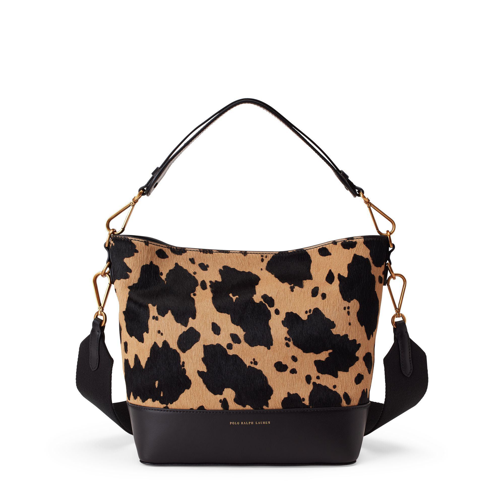 353f0cc592 Polo Ralph Lauren - Black Small Haircalf Bucket Bag - Lyst. View fullscreen