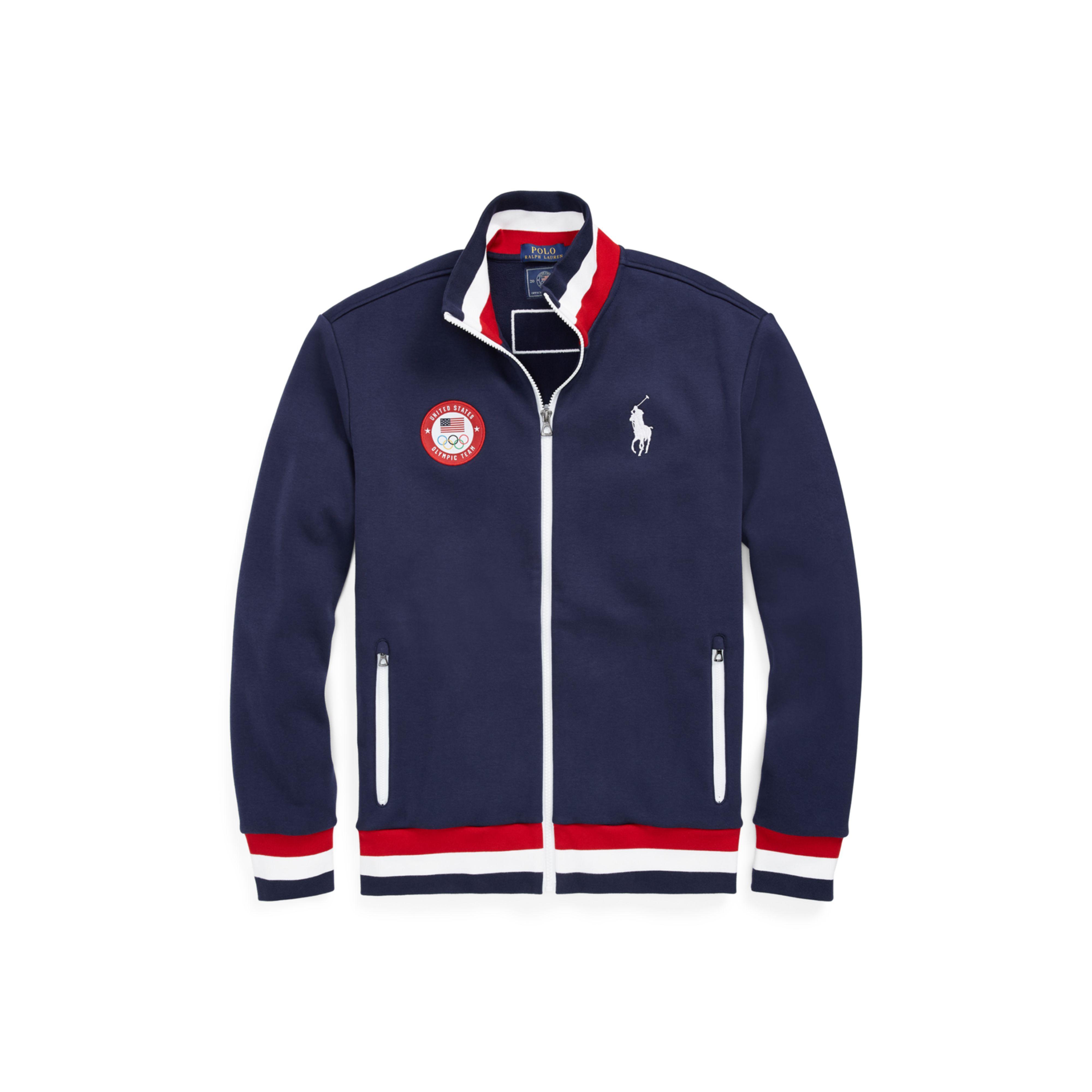 82ee36f939 Lyst - Polo Ralph Lauren Team Usa Fleece Track Jacket in Blue for Men