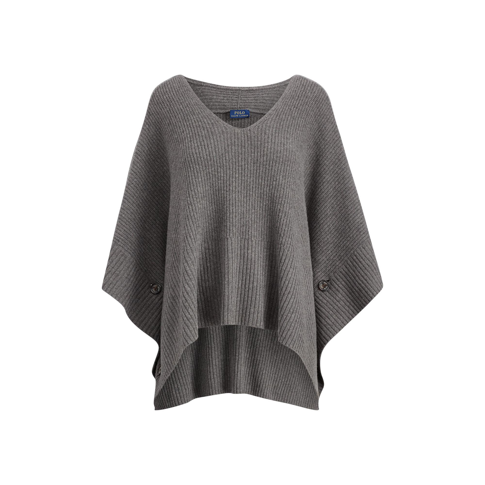 sale usa online for whole family new arrival Polo Ralph Lauren Wool-cashmere Poncho Sweater in Antique ...