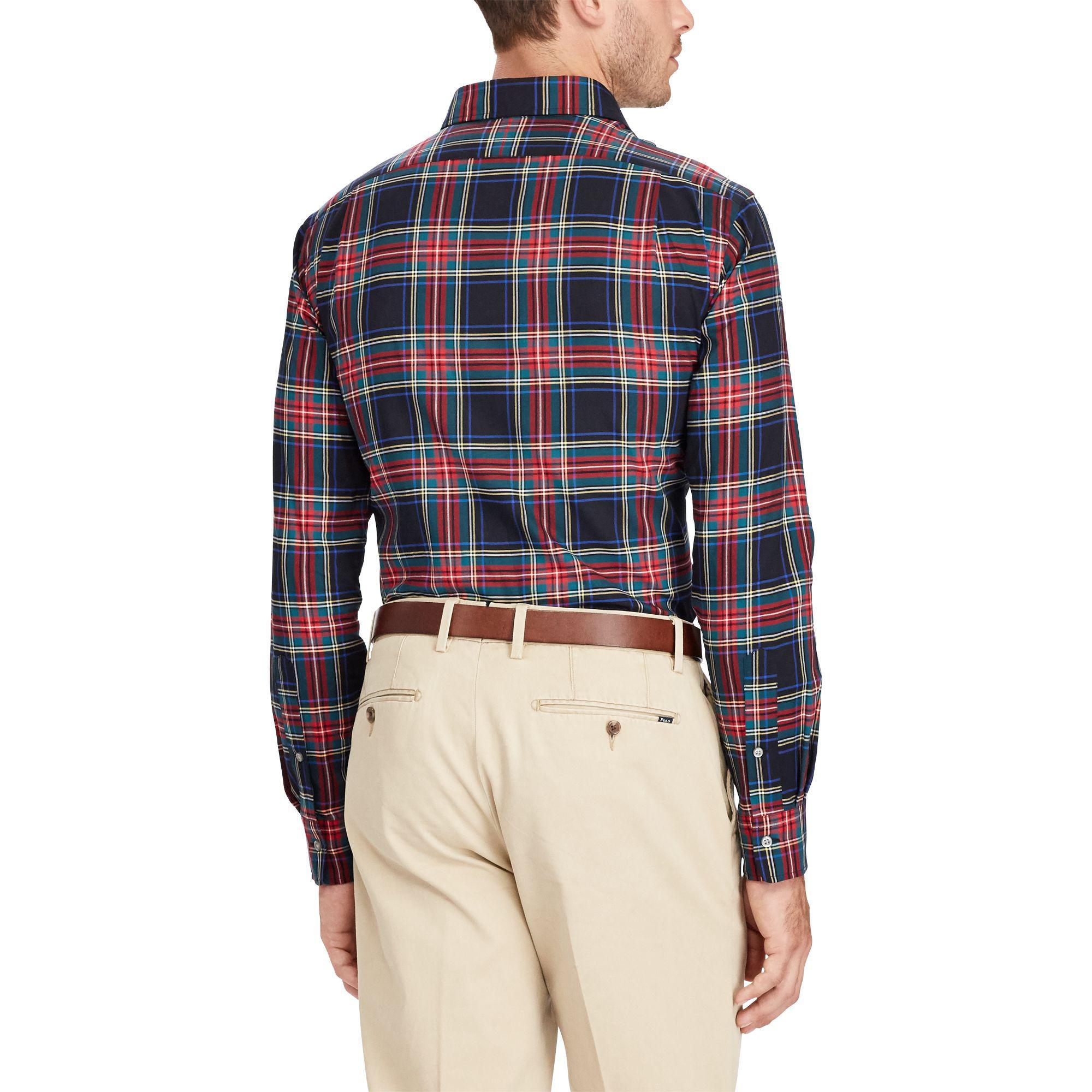 7a1981e8 ... inexpensive usa polo ralph lauren slim fit plaid cotton shirt for men  lyst da6d1 7c791 4ab46