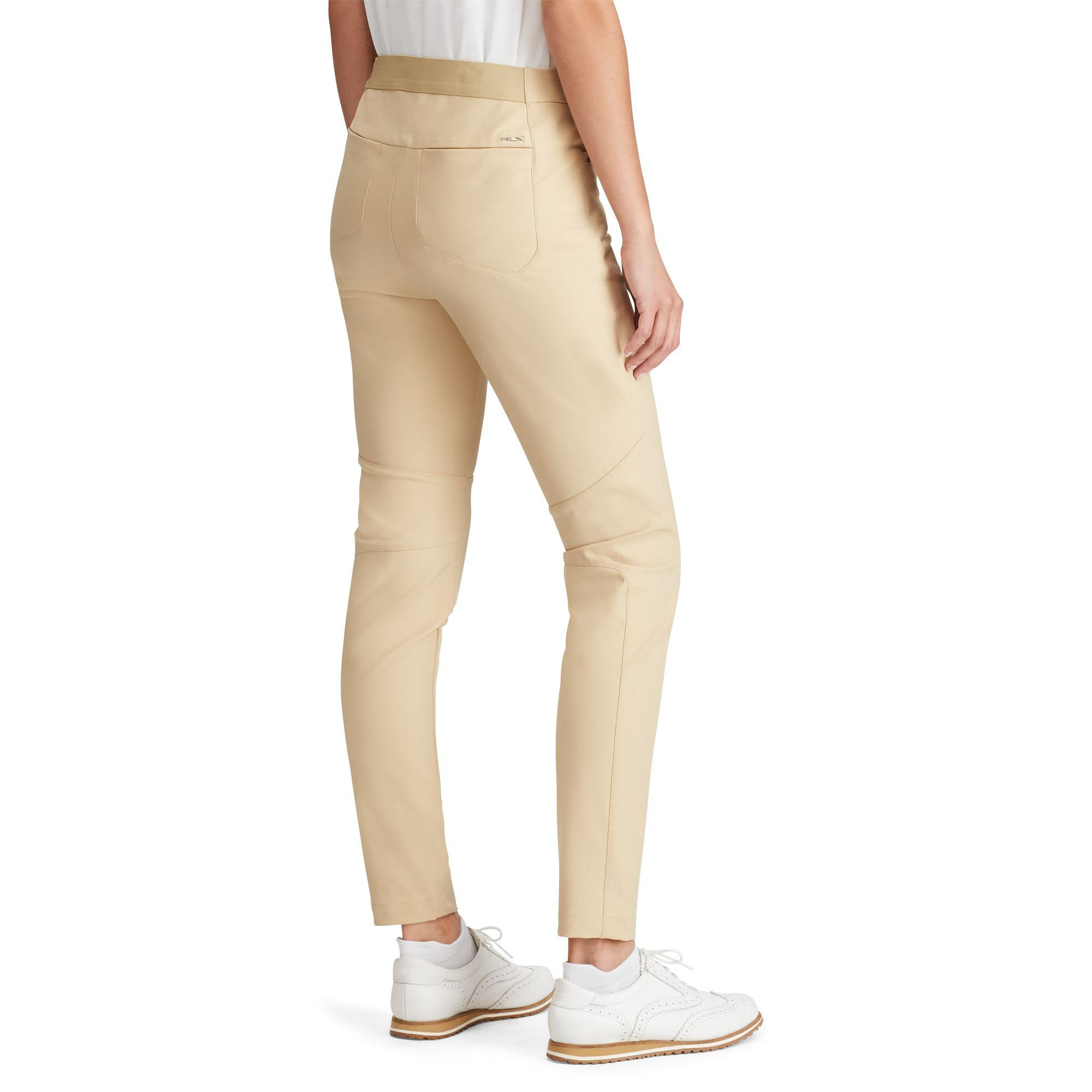 599403cc35aa Ralph Lauren Stretch Twill Skinny Pant in Natural - Save 59% - Lyst